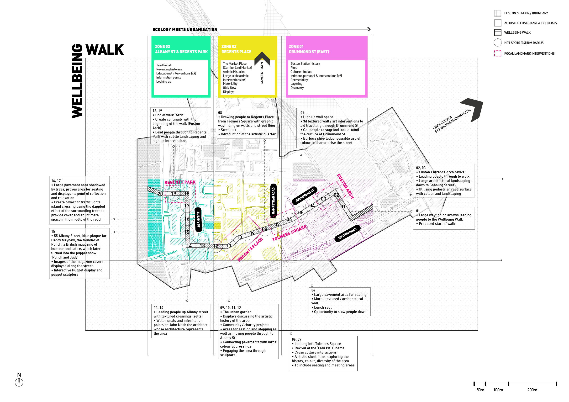 Bolter Design strategy and mapping for The Wellbeing Walk