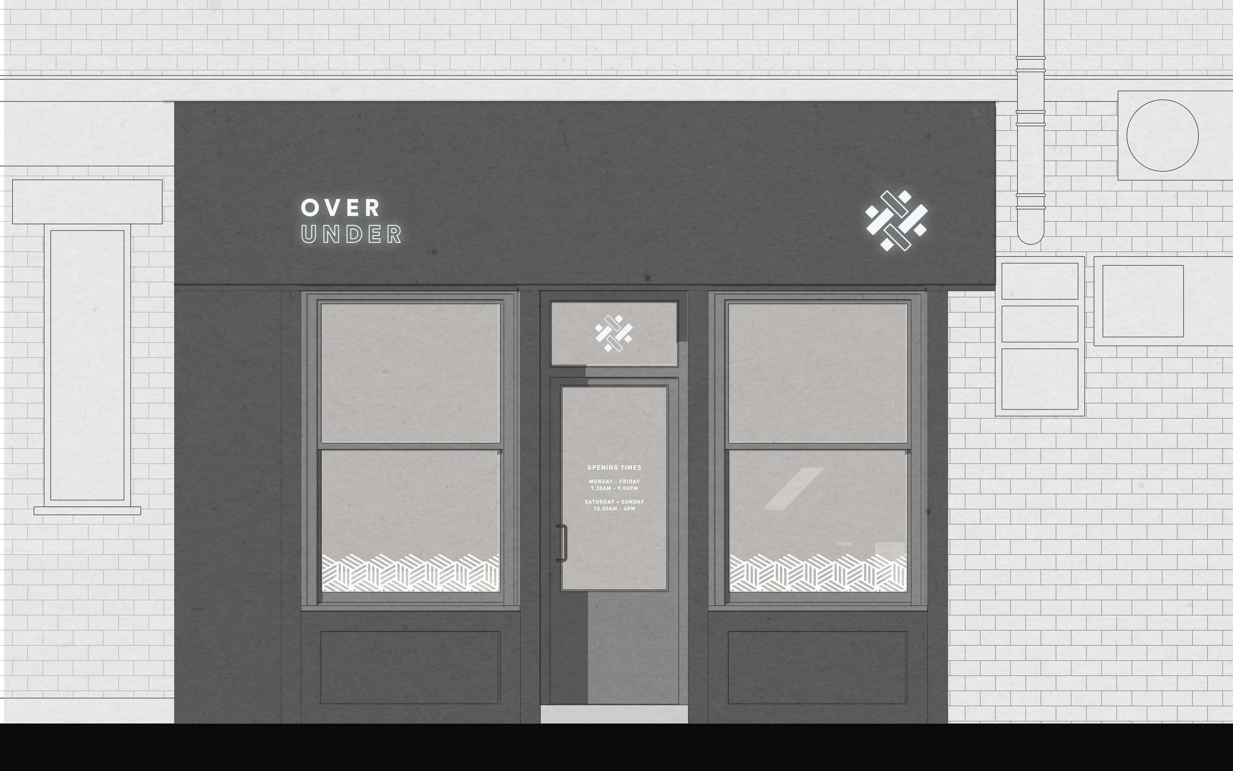 Bolter design shop front design for Over Under
