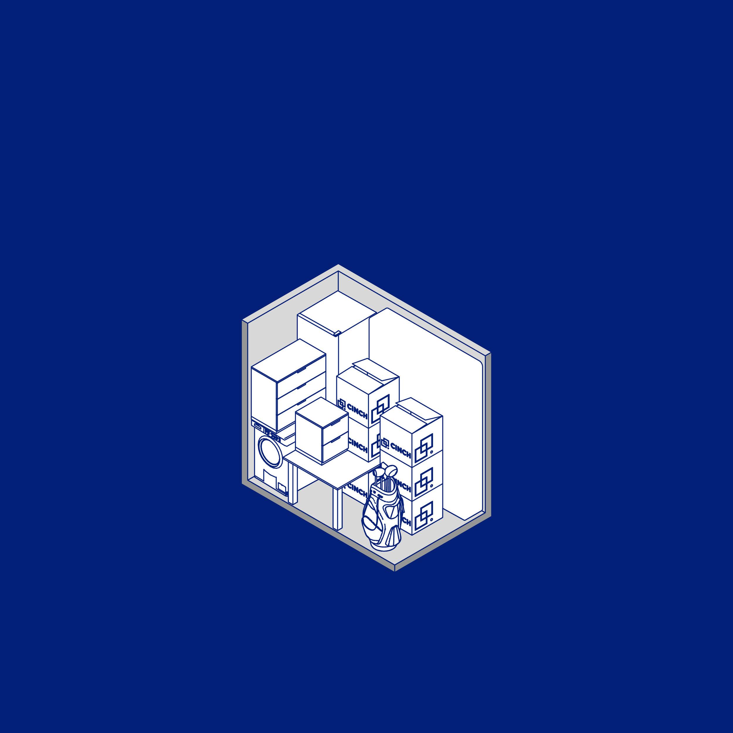 Bolter design icon design for Cinch Concierge Storage
