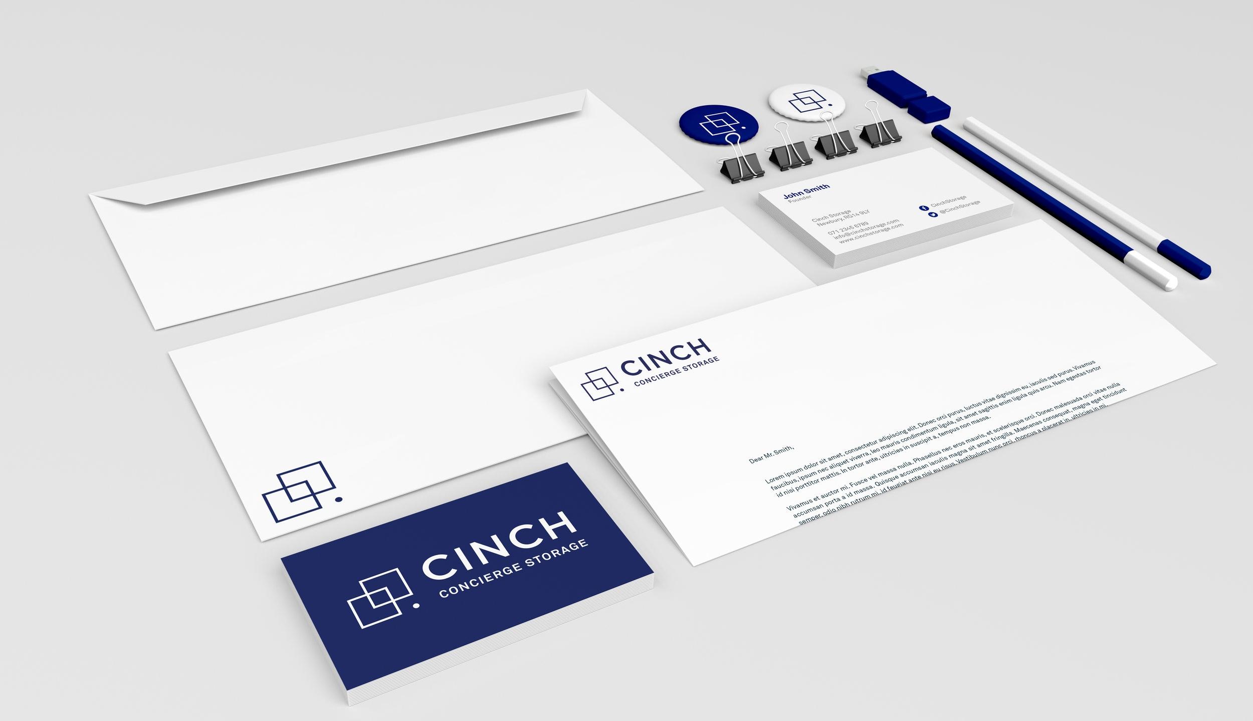 Bolter design brand and identity design for Cinch Concierge Storage