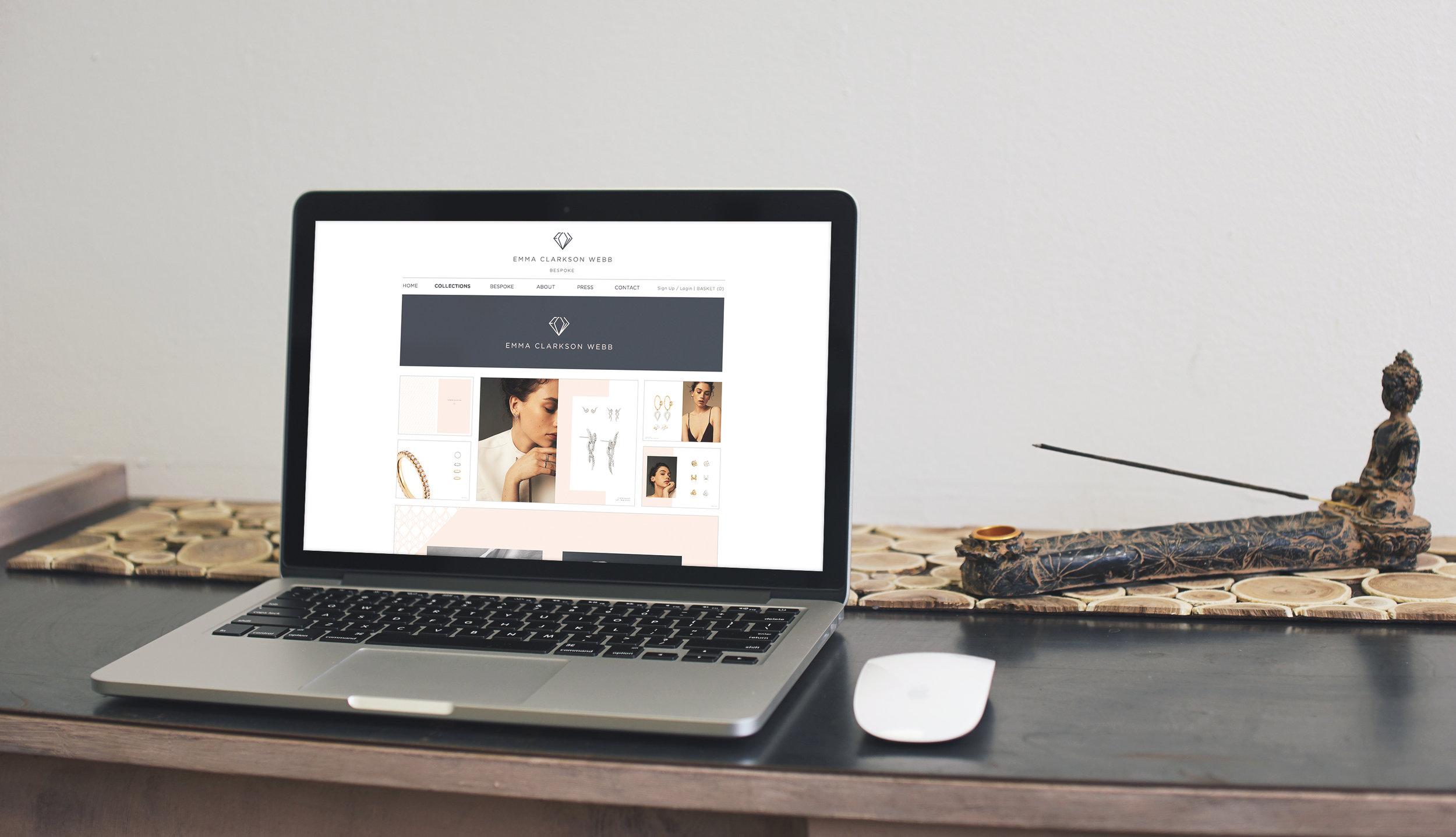 Bolter design website design for Emma Clarkson Webb
