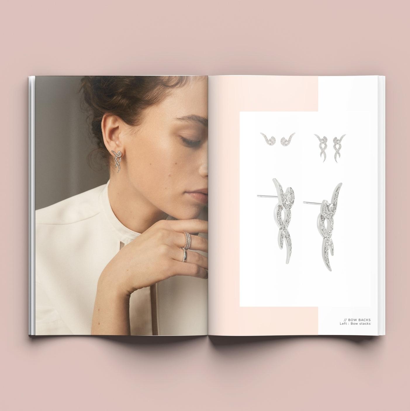 Bolter design look book design for Emma Clarkson Webb