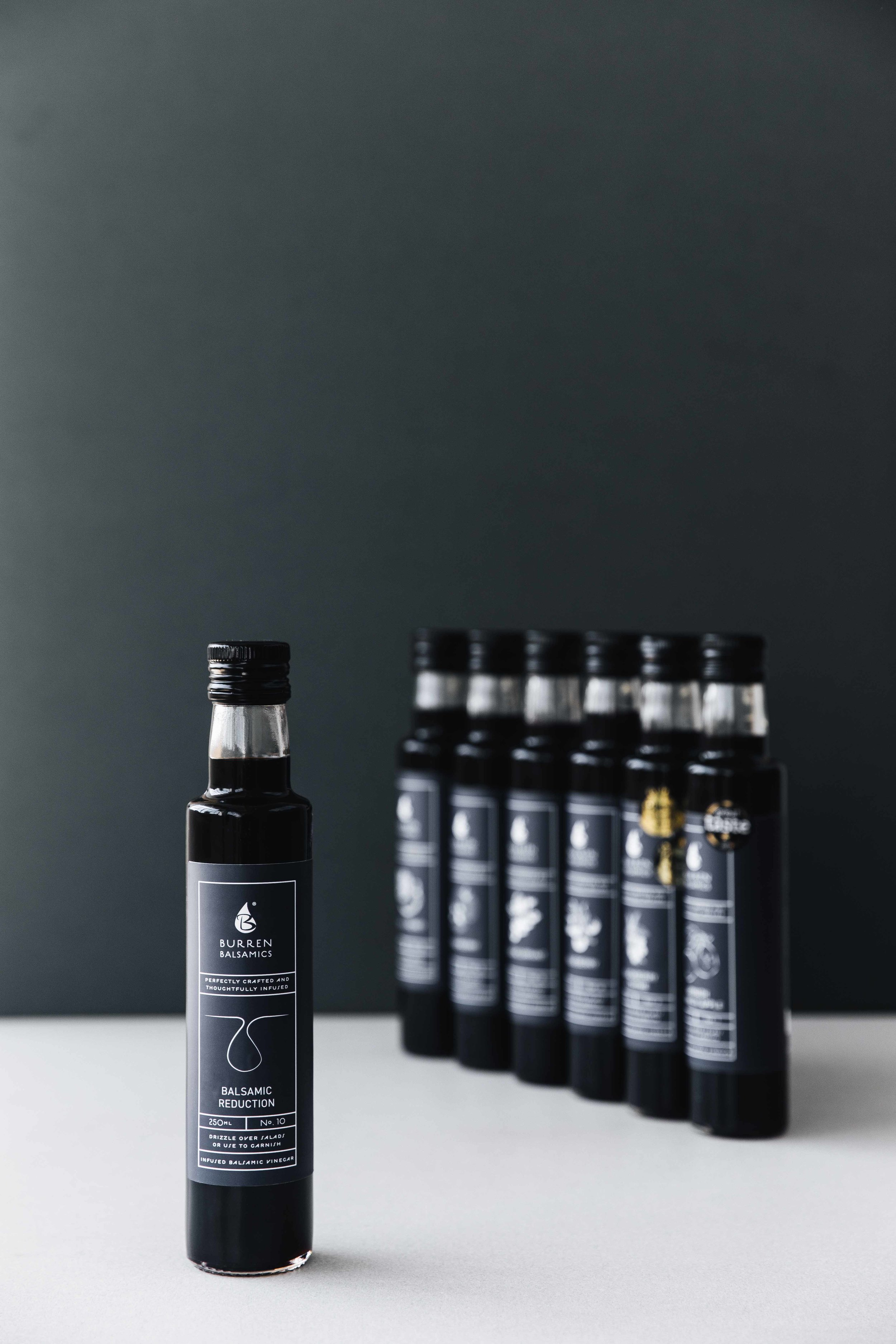Bolter design packaging design for Burren Balsamics