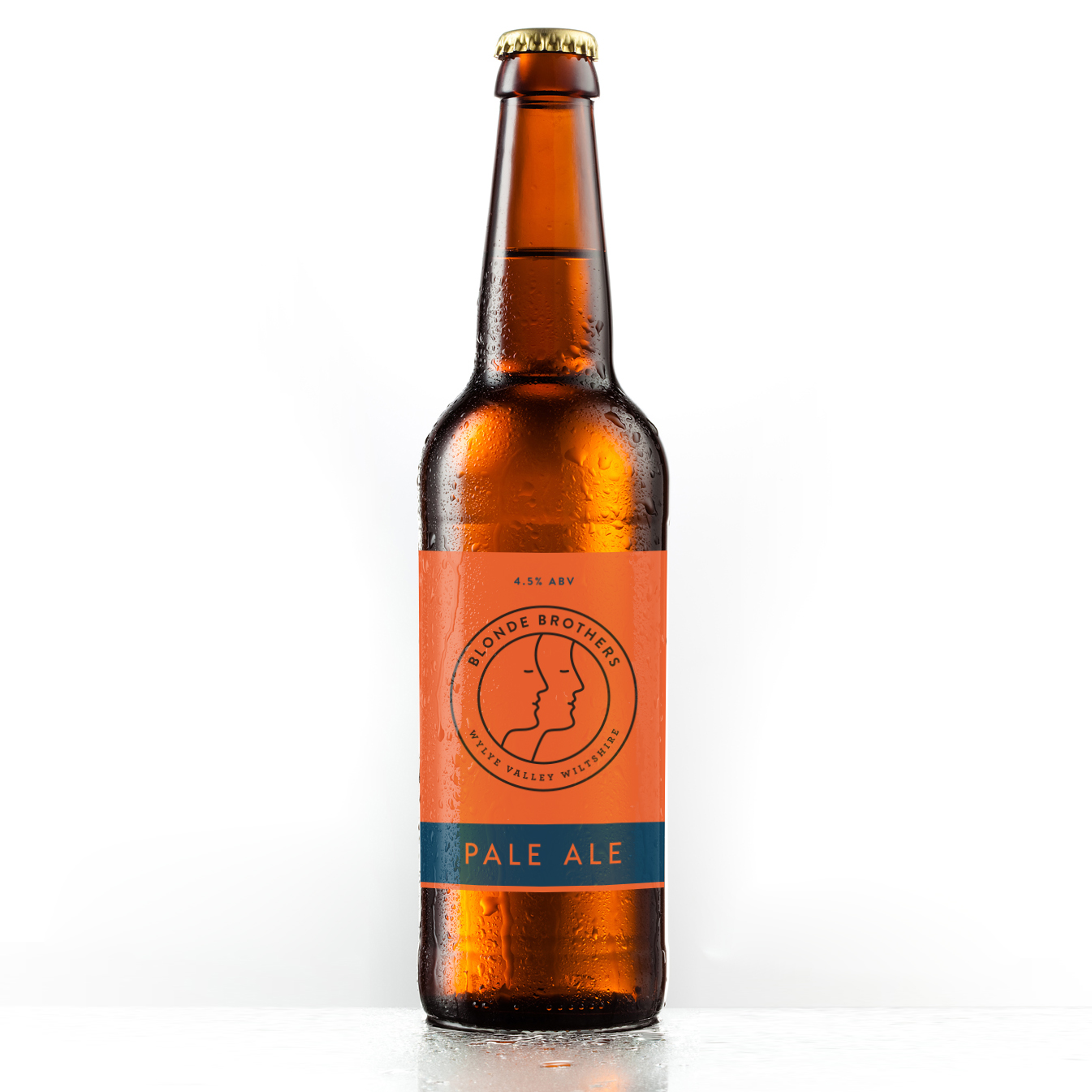 Red beer label packaging designed by Bolter Design