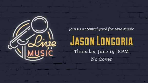 Join us in the taproom as rhythmic guitarist Jason Longoria performs live in the tap room!  Thursday, June 14   8 - 11 PM  No cover.