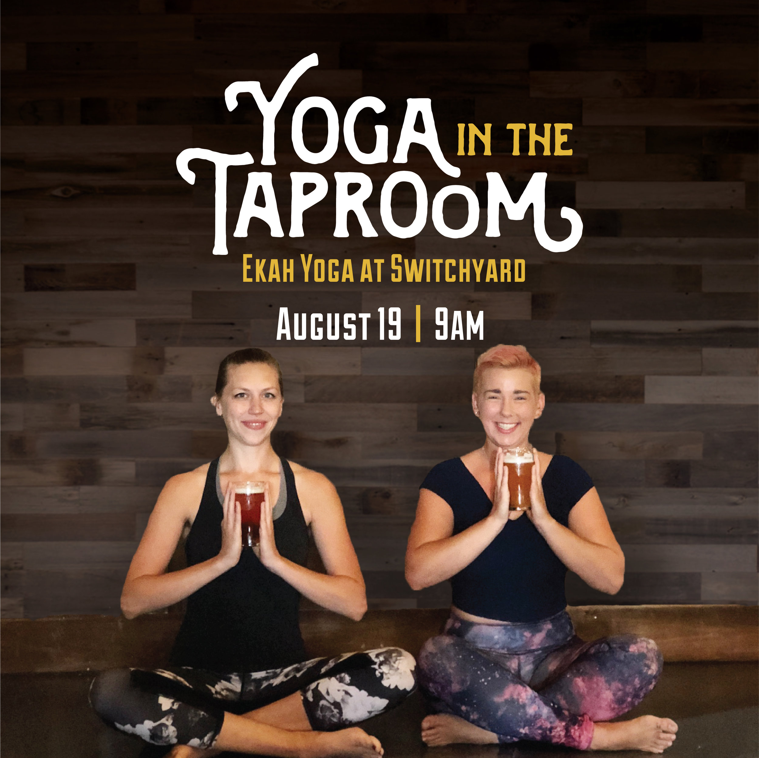 Stretch, strengthen and relax during this all-levels yoga flow class led by Quinndalyn from  Ekah Yoga ! At the end of class, stick around for a complimentary beermosa, mimosa, or pint of your favorite Switchyard beer!  $15 per person, includes a Switchyard beer, Mimosa or Beermosa!  Register Online:https://goo.gl/8kvEbU