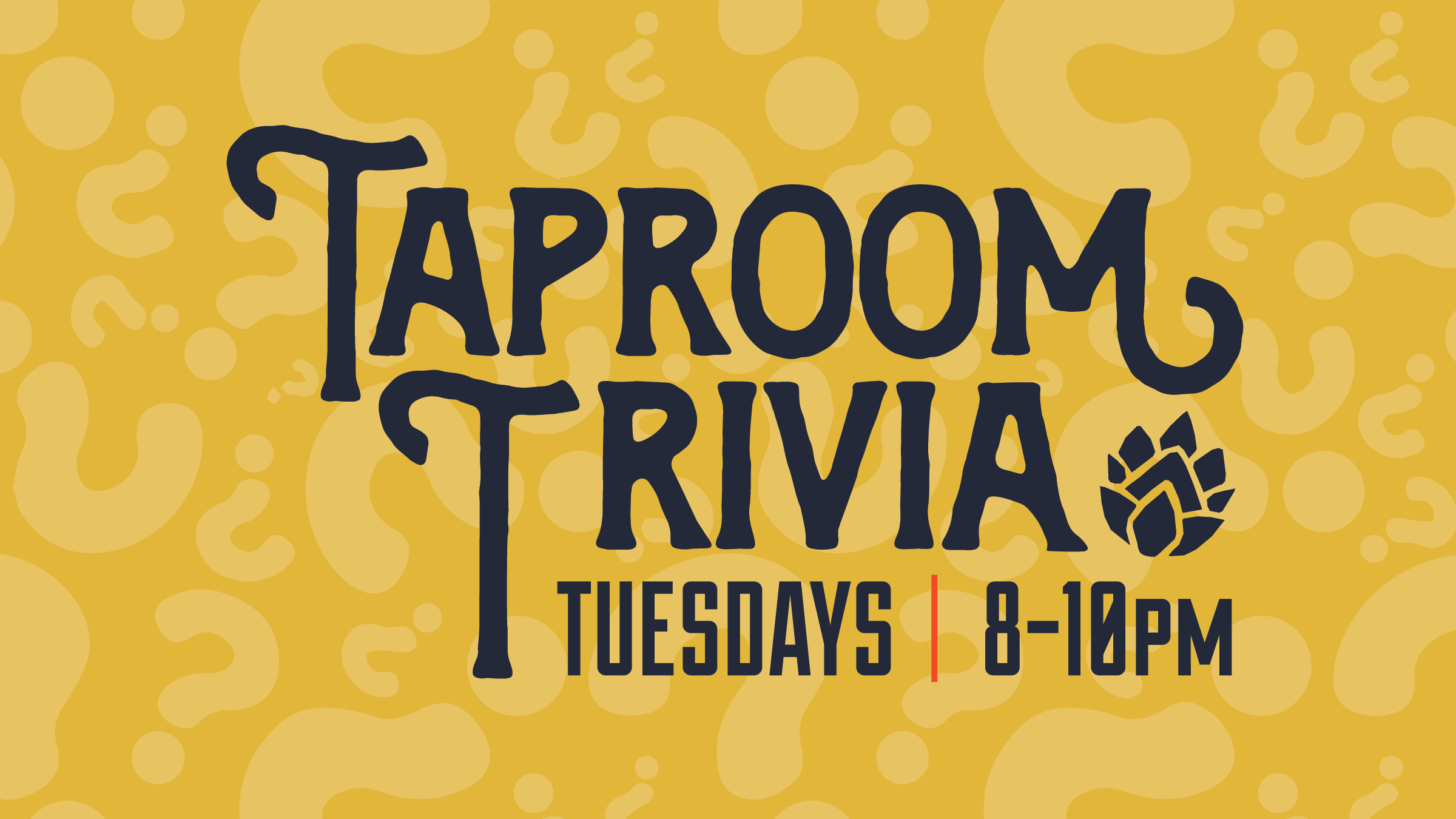 Our all ages, interactive and fun live trivia starts at 8:15 PM every Tuesday! Sign ups start at 7:30, questions drop at 8:00 PM! Prizes for the top three teams! No limit to team size.