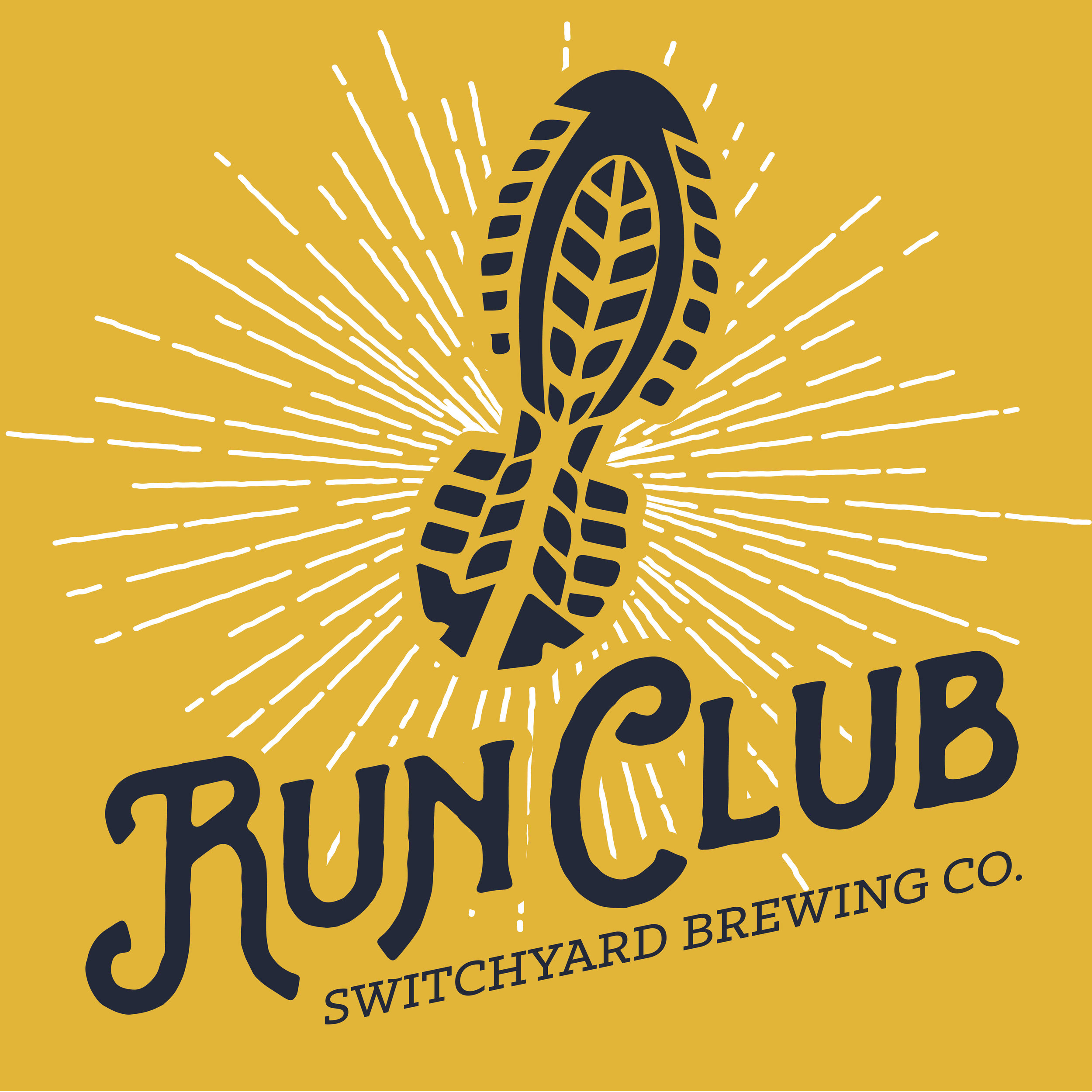 """Our Run Club meets every Monday at 6:00 PM at our downtown taproom. The Run Club is free to join!  Choose a 1.5, 3 or 5-mile family-friendly course to run or walk and earn points towards run club milestone rewards!  We formed our run club as part of our brewery's dedication to our community. Our sixth Guiding Principle of how we run Switchyard states, """"Be an active part of our community."""" We believe that business can, and should be a catalyst for positive change within our community. We believe that a business has an obligation to give back to the community of which it is a part. Our run club is an extension of exactly that.  Our routes can be found on our  Run Club Facebook page, on our RunGo Group or you can pick up a printout of our turn by turn directions for simple navigation at check-in.  As always, be courteous to our neighbors while running by making sure to look both ways before darting into traffic, running off to the side and letting cars pass, and be sure to give our neighbors a wave as you run by!👋🏼  We all run the first mile together.  Be sure to arrive at the brewery a little early each run to sign in. We will track your runs for you, and for each run milestone you hit (25, 50, 75, 100) you'll receive a cool gift!  A very special thank you to the  Bloomington Area Runners Association for their enthusiasm and for testing & facilitating the routes!"""