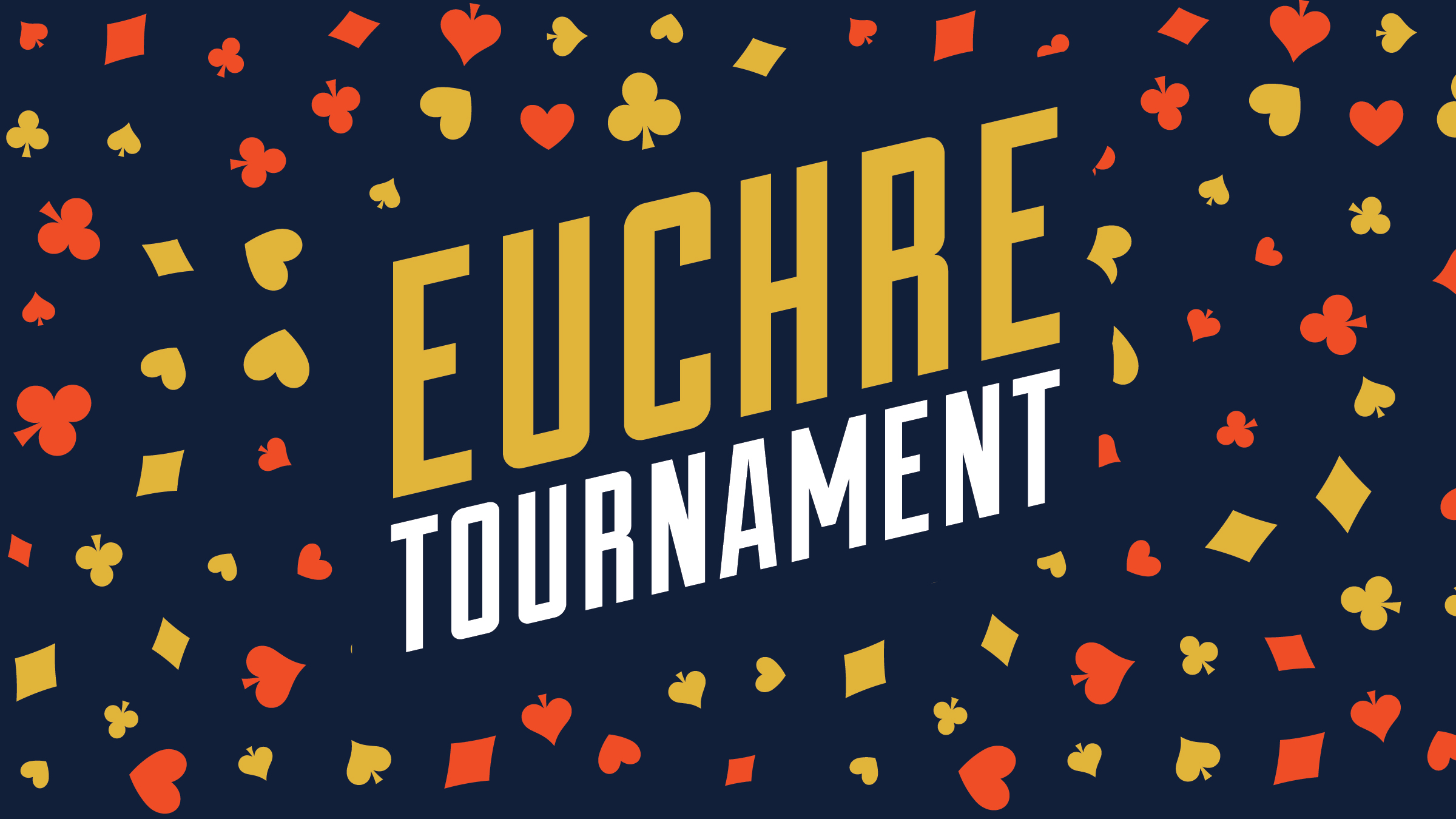 Join us for our first Euchre Tournament night!  First place team is awarded two $25 gift cards. Second place wins two $15 gift cards and third place gets two $10 gift cards! Registration starts at 6:30 PM and games start at 7:00 PM  - All ages, must be 21+ to receive gift card / consume alcohol. Non-alcoholic beverages available.