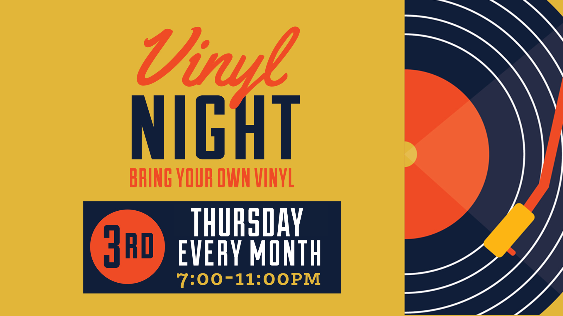 In partnership with  Landlocked Music  and  Secretly Distribution  grab your wax and join us for a special BYOV featuring guest DJs from Secretly & Landlocked!   BYOV and help curate the night's playlist and stick around for a chance to win a $25 Landlocked gift card to help build your collection!