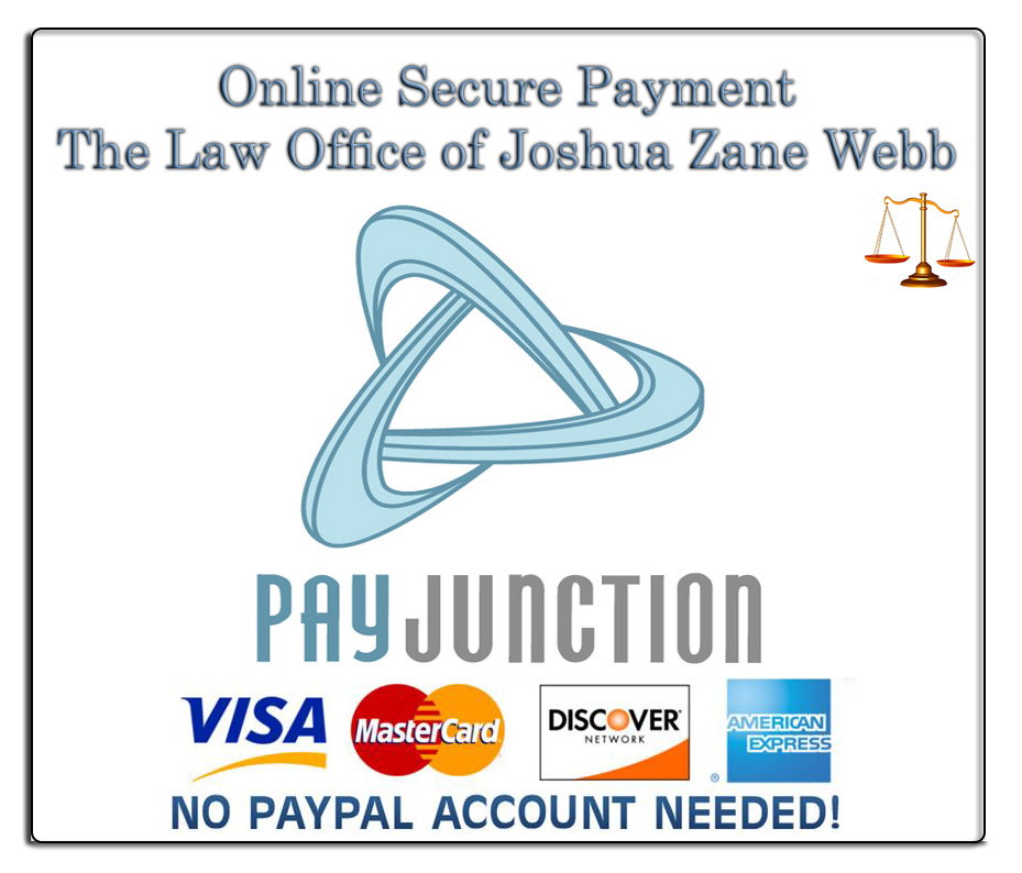 Online Secure Payment Pay Junction Law Office of Joshua Zane Webb