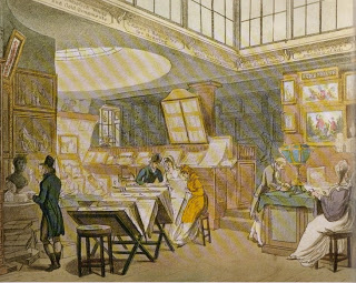anonymous engraving, Ackerman's Repository of Arts, The Strand 1809