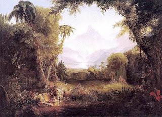 Thomas Cole(Hudson River School), The Garden of Eden 1828 wikimedia commons