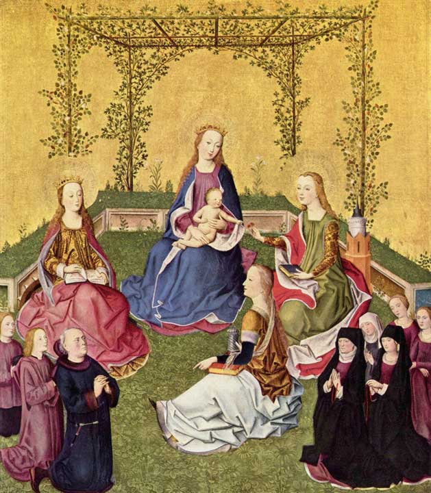 Virgin and child with saints and donor family, c1430, Cologne