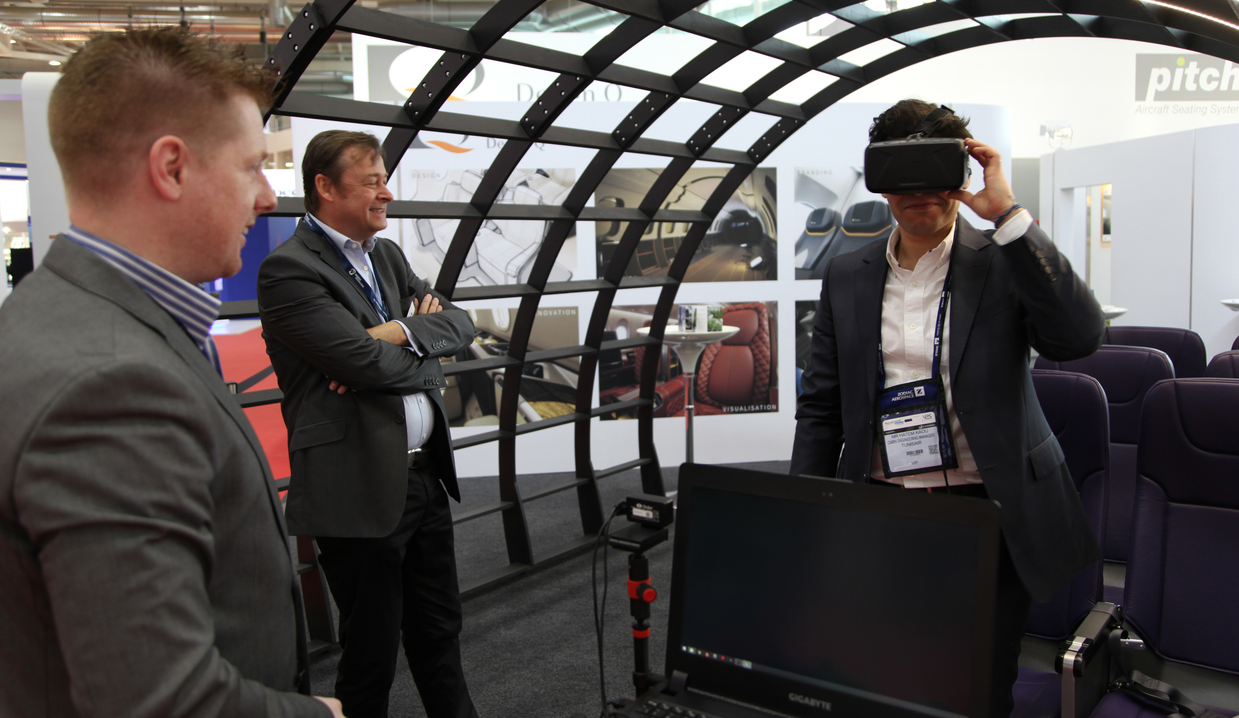 Oculus Rift on display at Aircraft Interiors Expo 2015