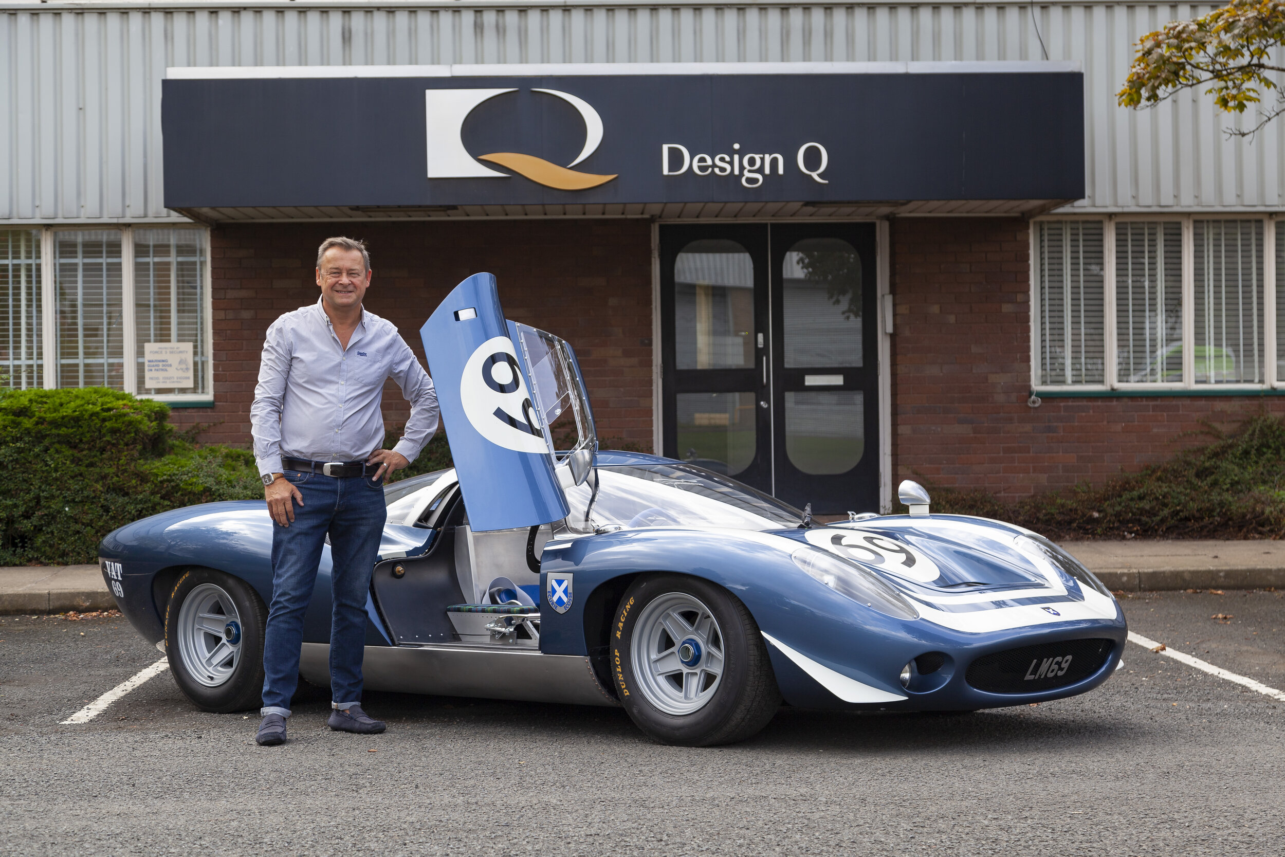 The Ecurie Ecosse LM69 is an exploration of what could have been. Pictured: Howard Guy with the LM69