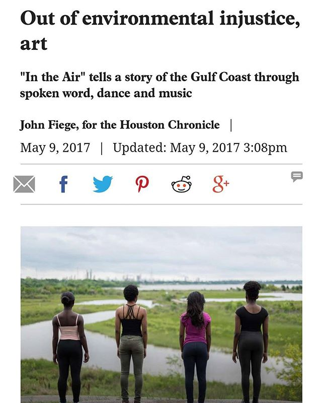 The Houston Chronicle (@houstonchron) featured our environmental justice film on its Gray Matters blog!! Remember today is your LAST chance to donate to the project!! (Kickstarter link in bio!) #environmentaljustice #spokenword #documentary #contemporarydance #gulfcoast #film