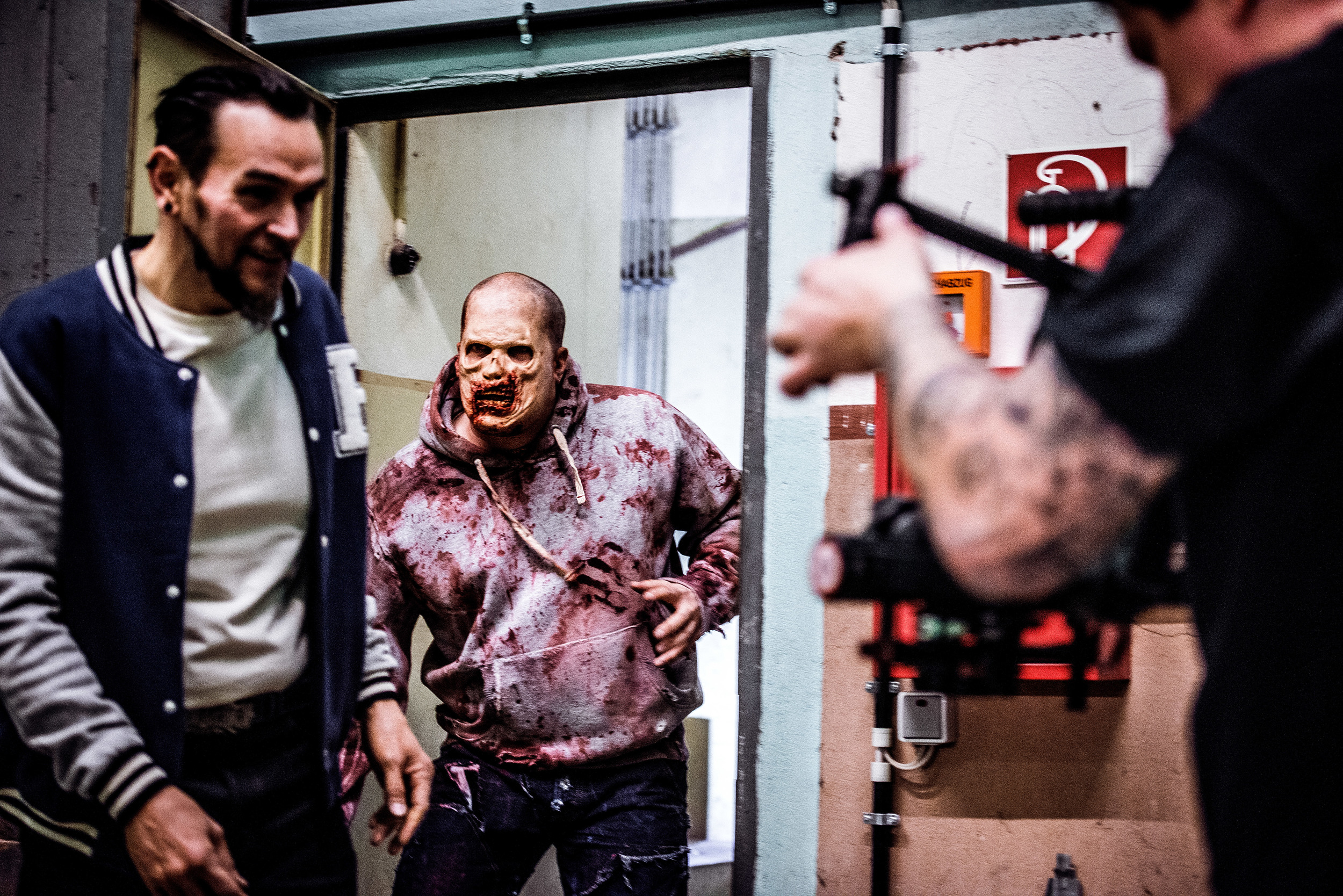"""Dirk Behlau filming """"Zombie Apocalypse"""" for Rumble59 - Photo by  Aixcloud Photography"""