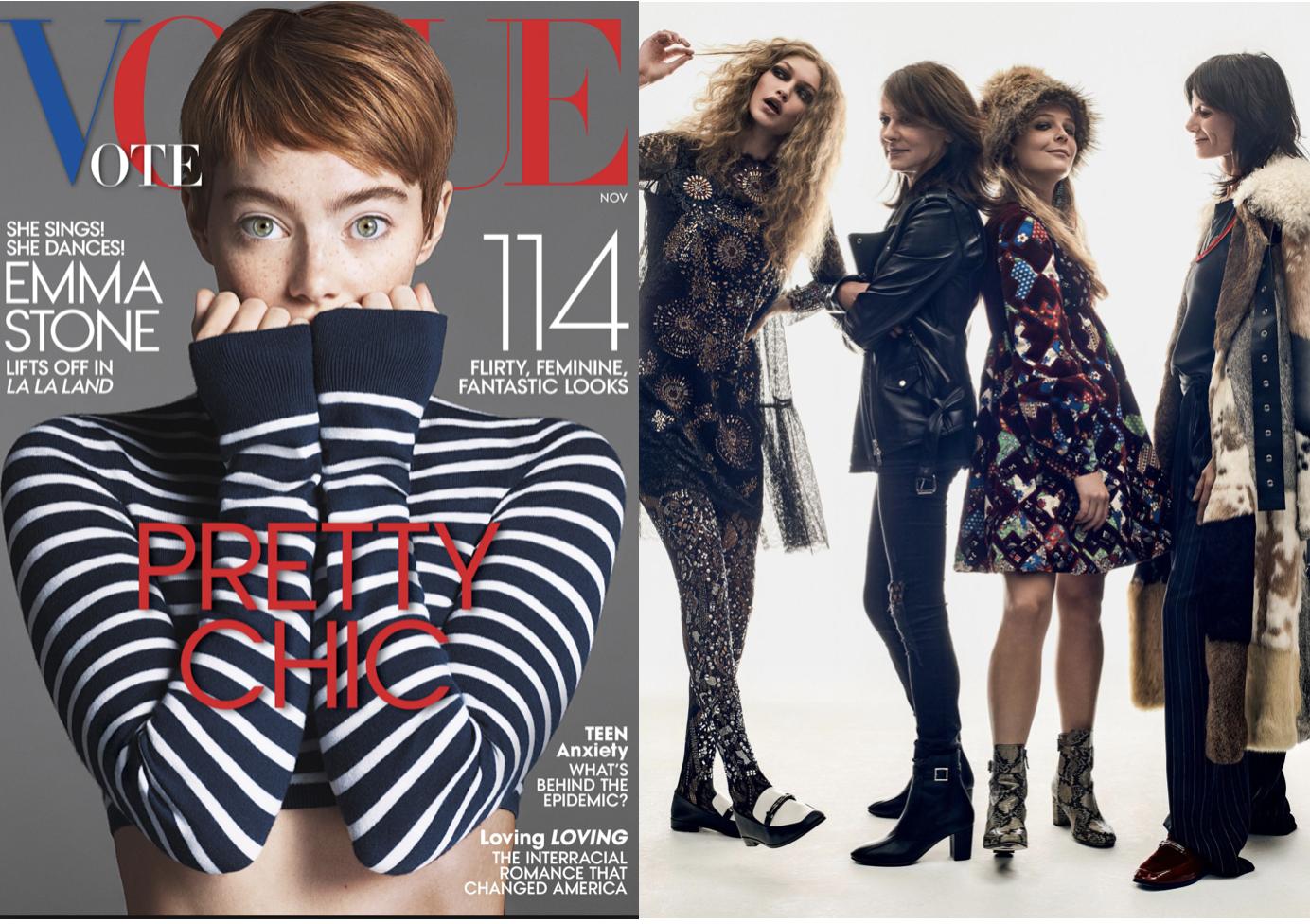 VOGUE - CFDA/ Vogue Fashion Fund FinalistsGigi Hadid and Maggie Rogersphoto: Gregory Harrisread more