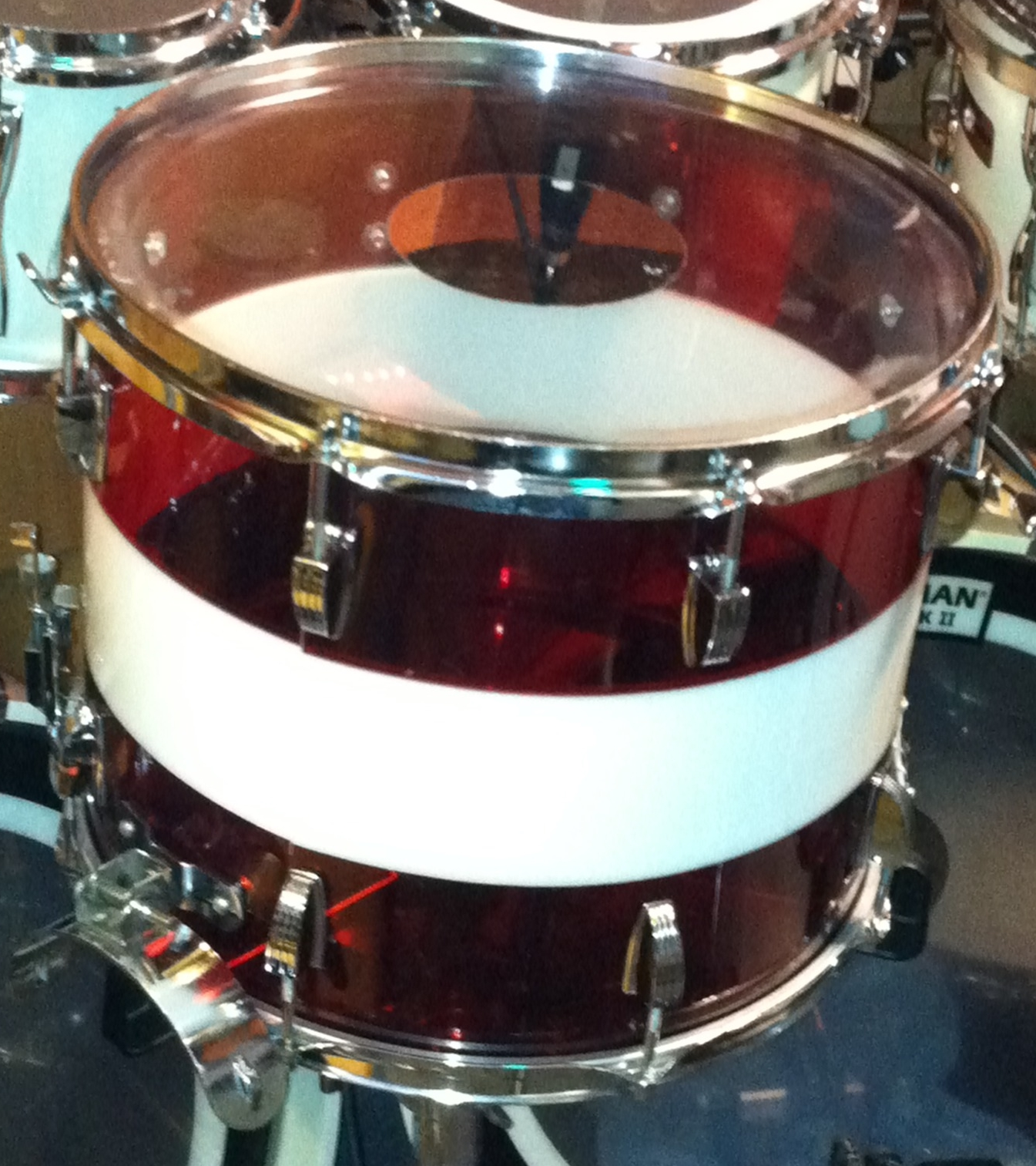 "Ludwig   ""Vistalite""  Parade Drum 12x15 (1976)"