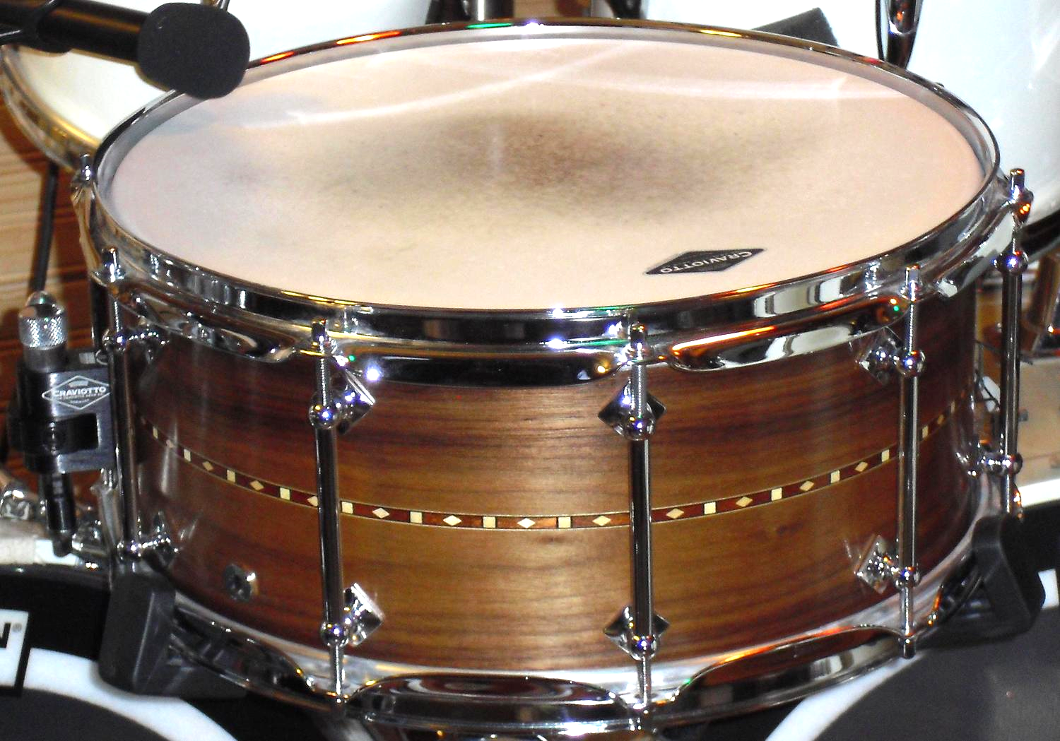 "Craviotto  "" Custom Solid Walnut""  6.5x14 (2008)"