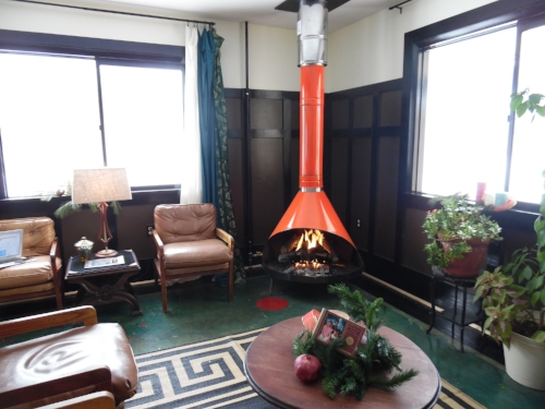 The Fireplace at the Billy Motel
