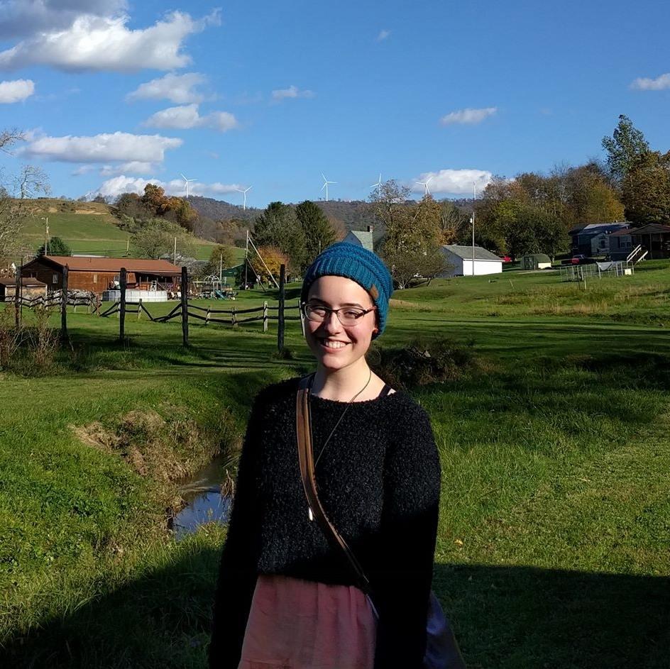 Me enjoying the blue skies on a trip to Belington.