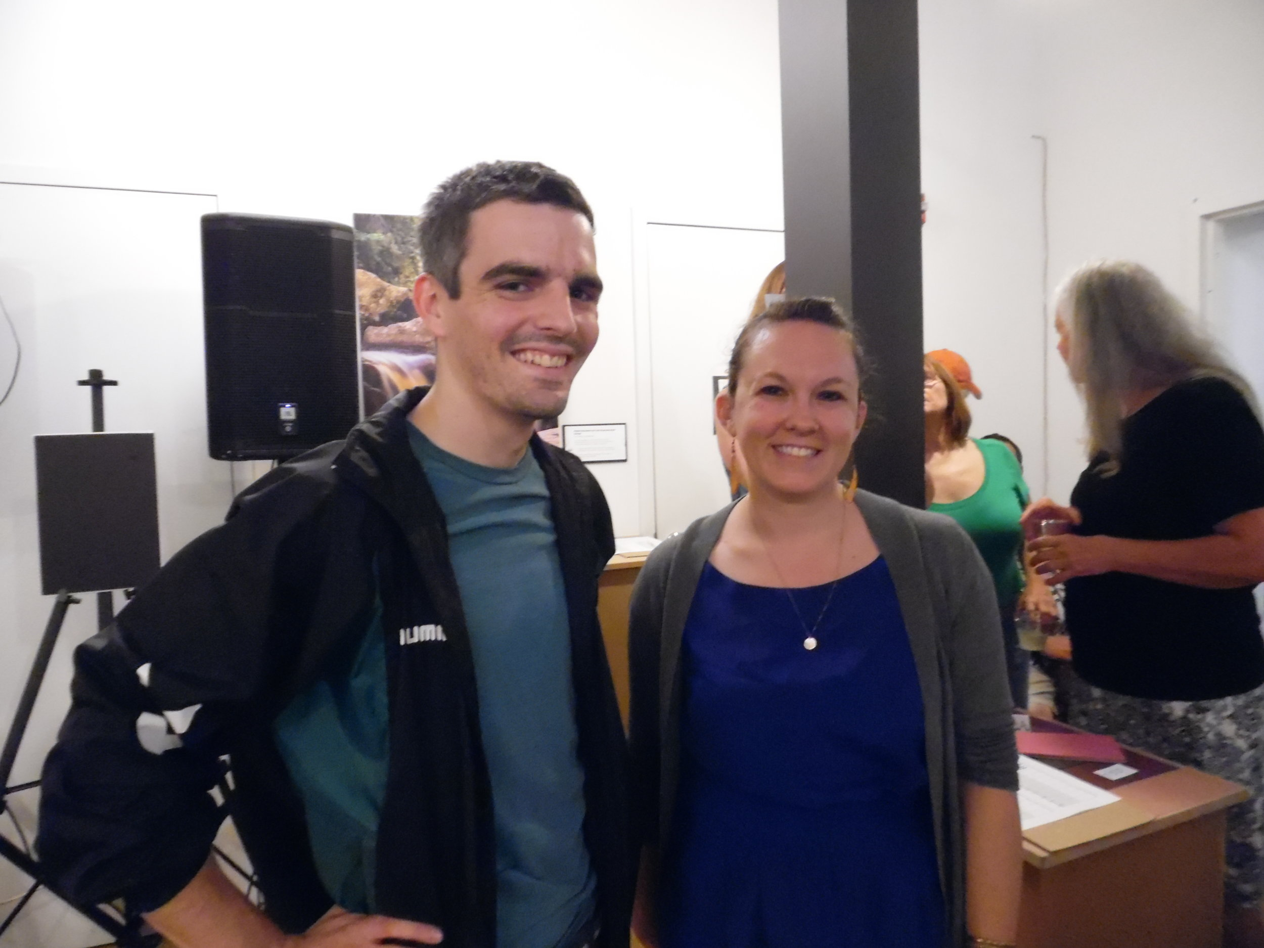 Pictured: Dominic Piacentini (AFHA AmeriCorps) and Emily Wilson-Hauger (New Historic Thomas)