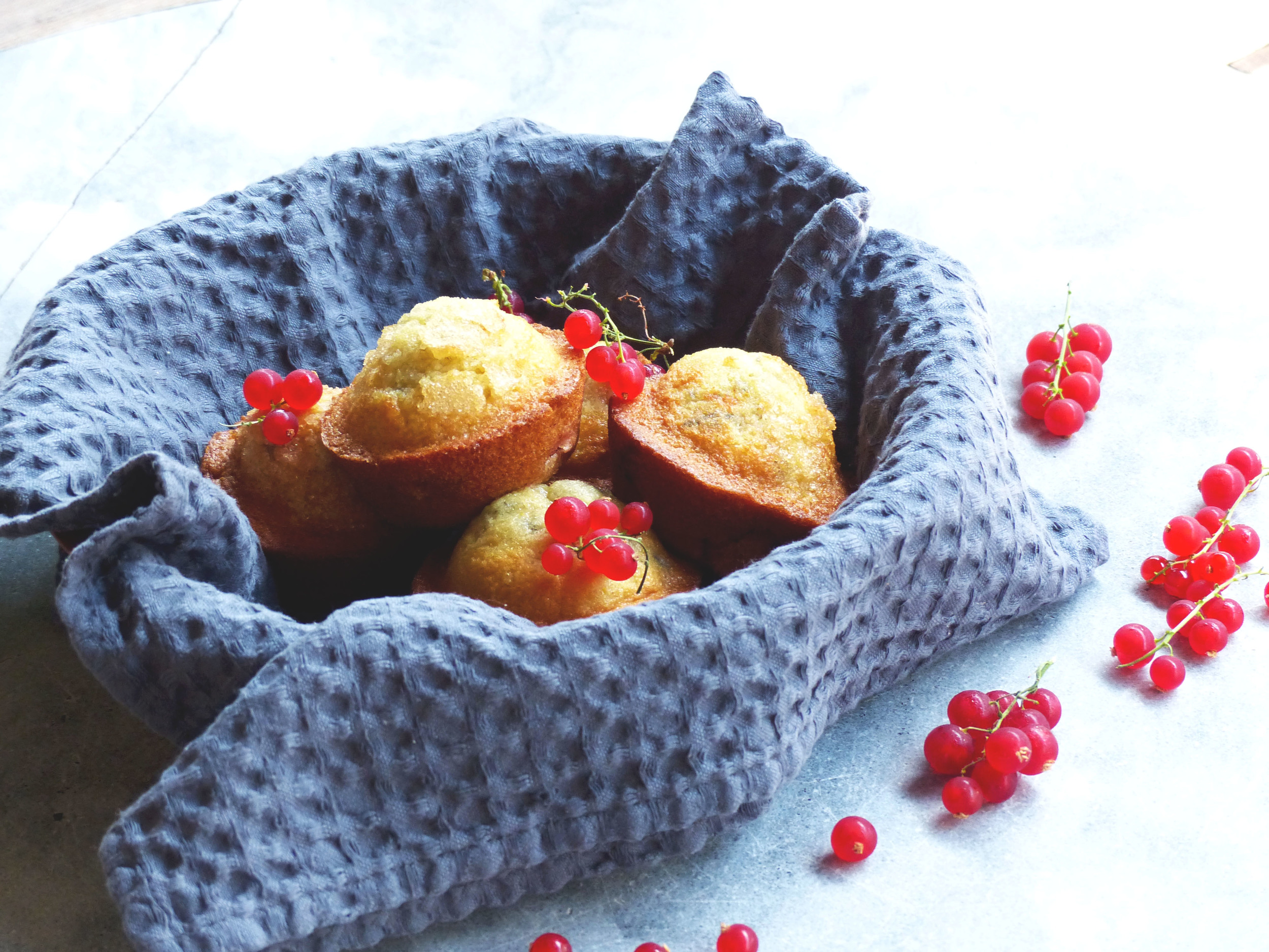 the red currants can be too sour if just eat them alone but they go really well in muffins.