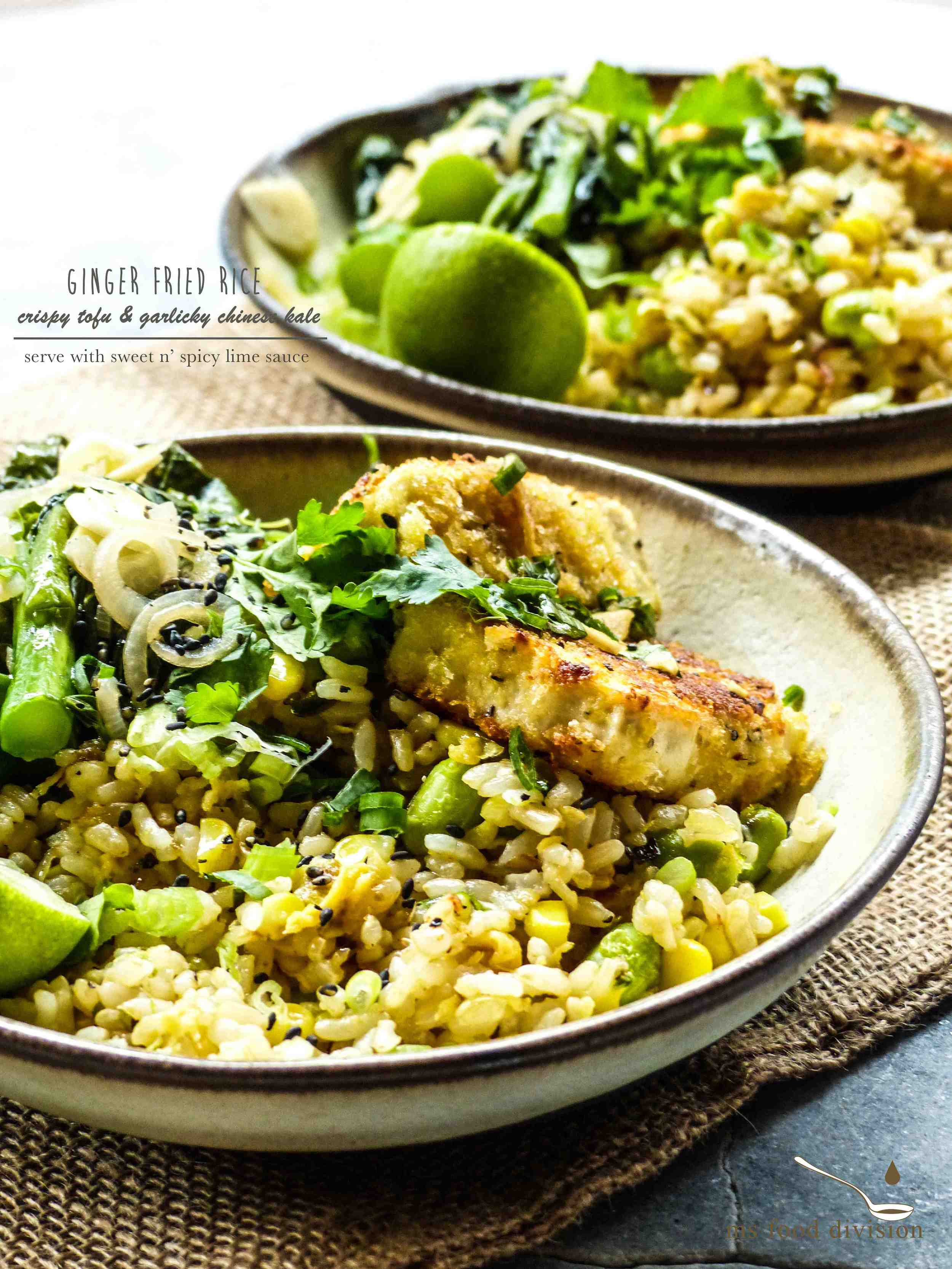 This dish is packed with flavors because I combined many fresh ingredients such as lime, honey, and ginger.
