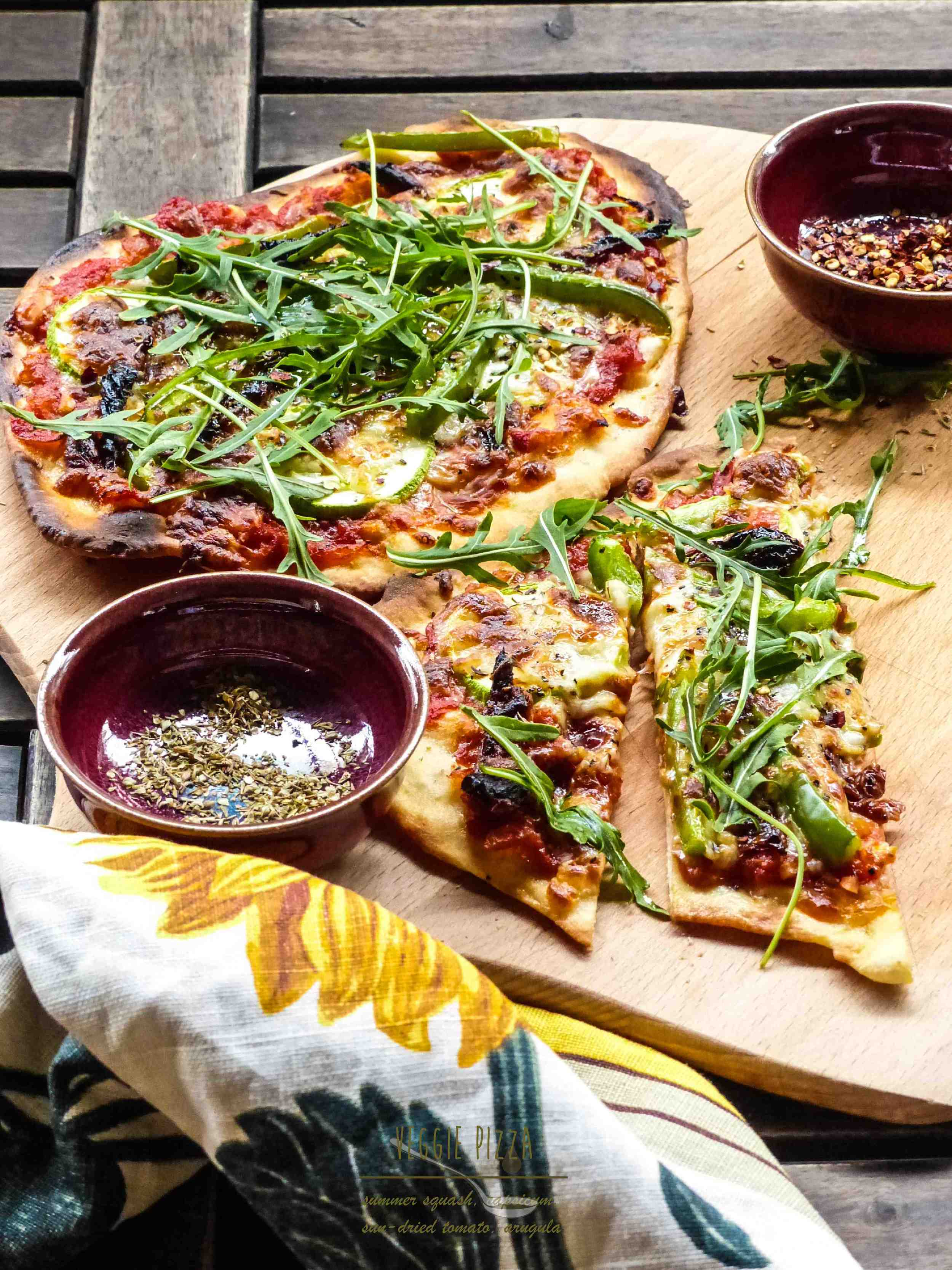 This pizza dough recipe is from Jamie Oliver's website. Click  here  to go to his recipe.
