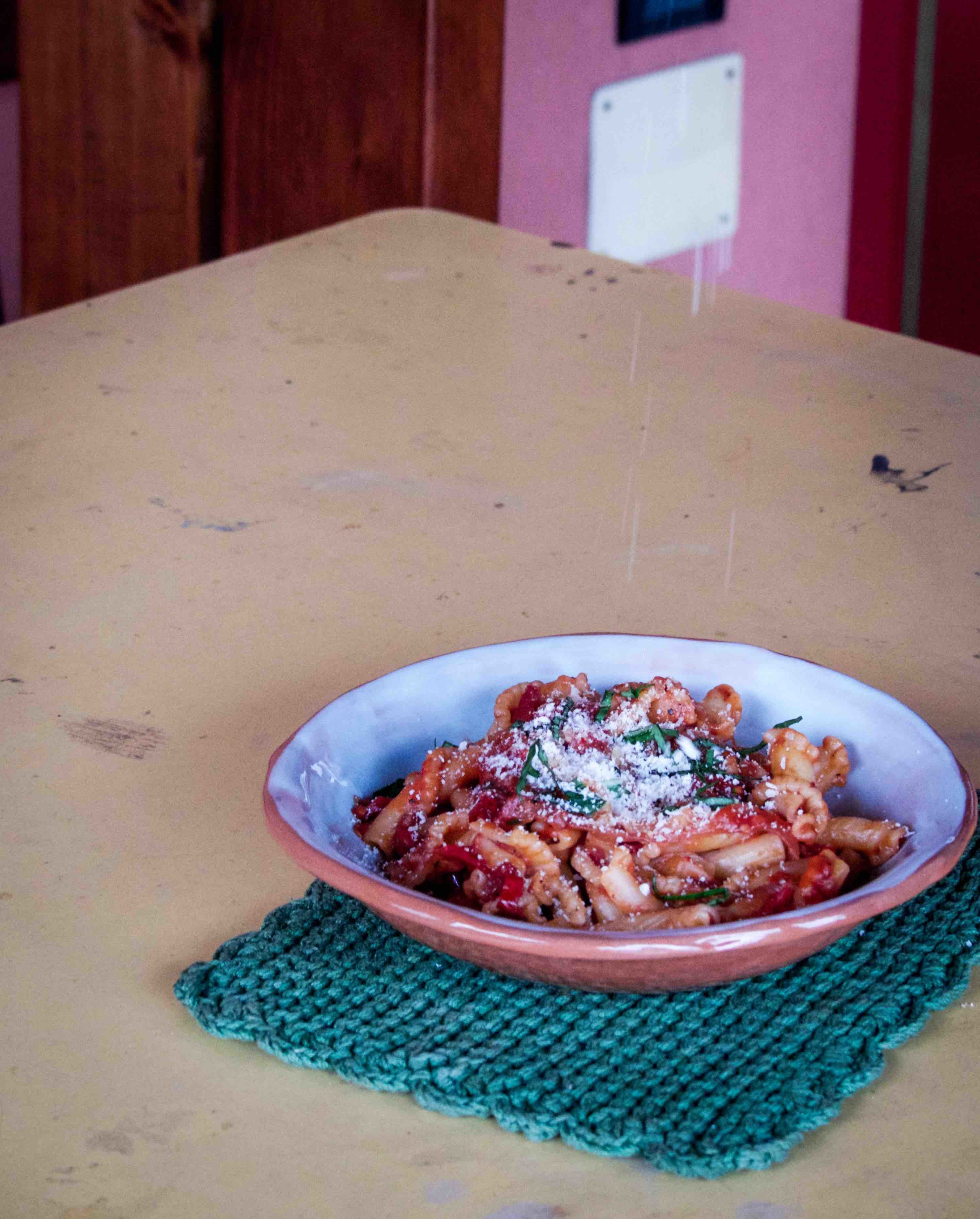 Gigliwith tomato sauce