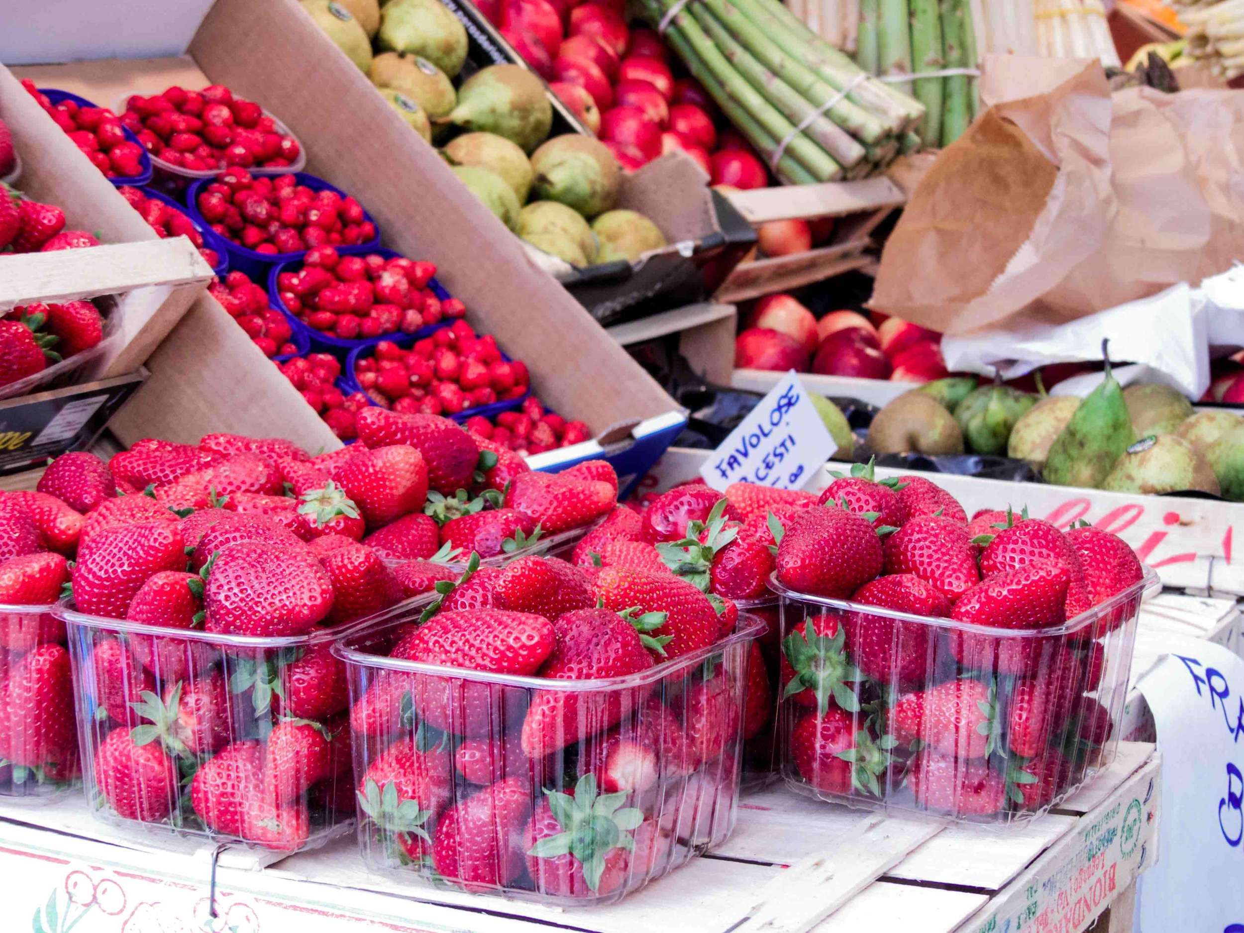 Yes, strawberry is in season. They tasteas good as theylook.