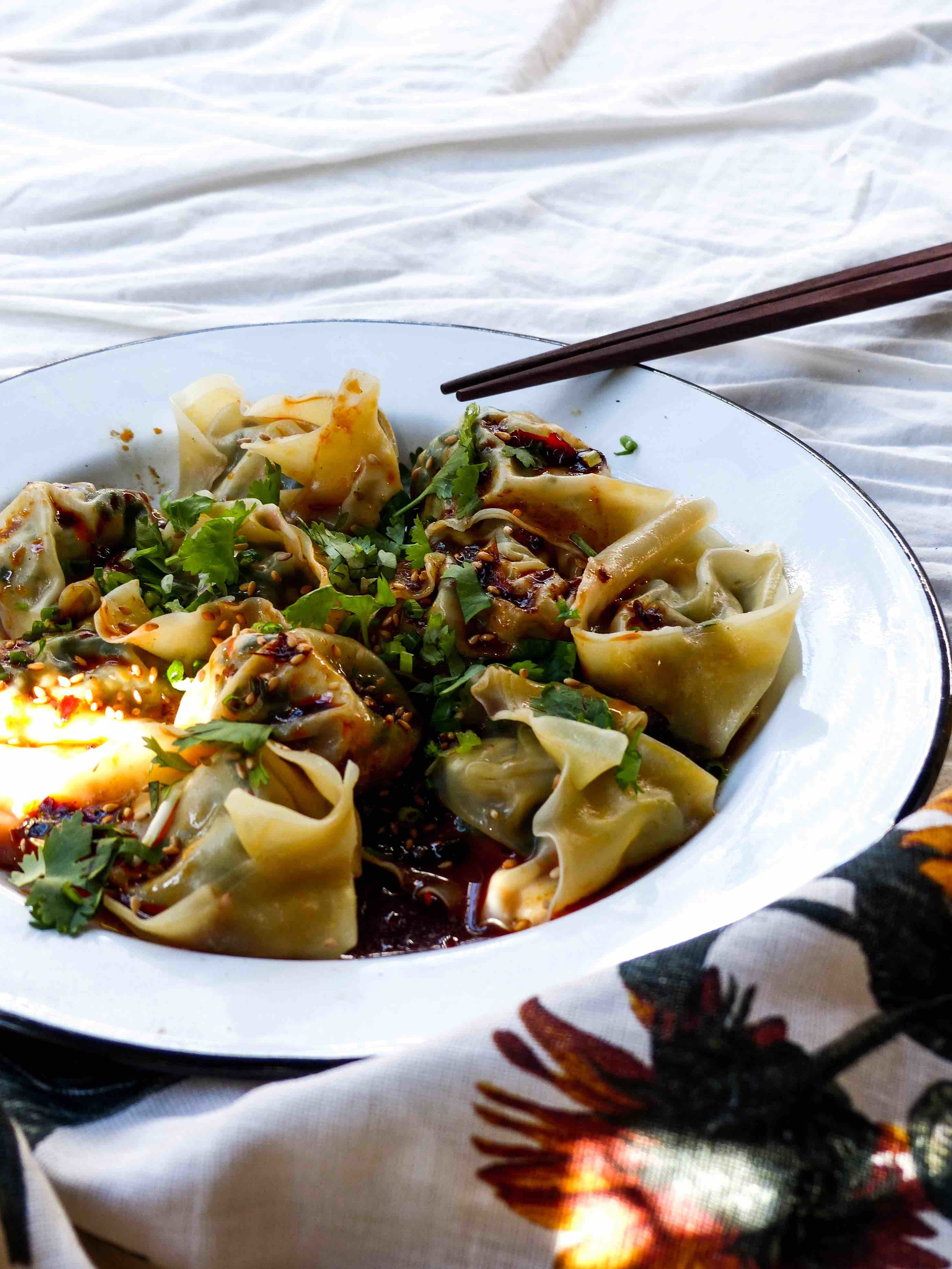 Sichuan-style wontons