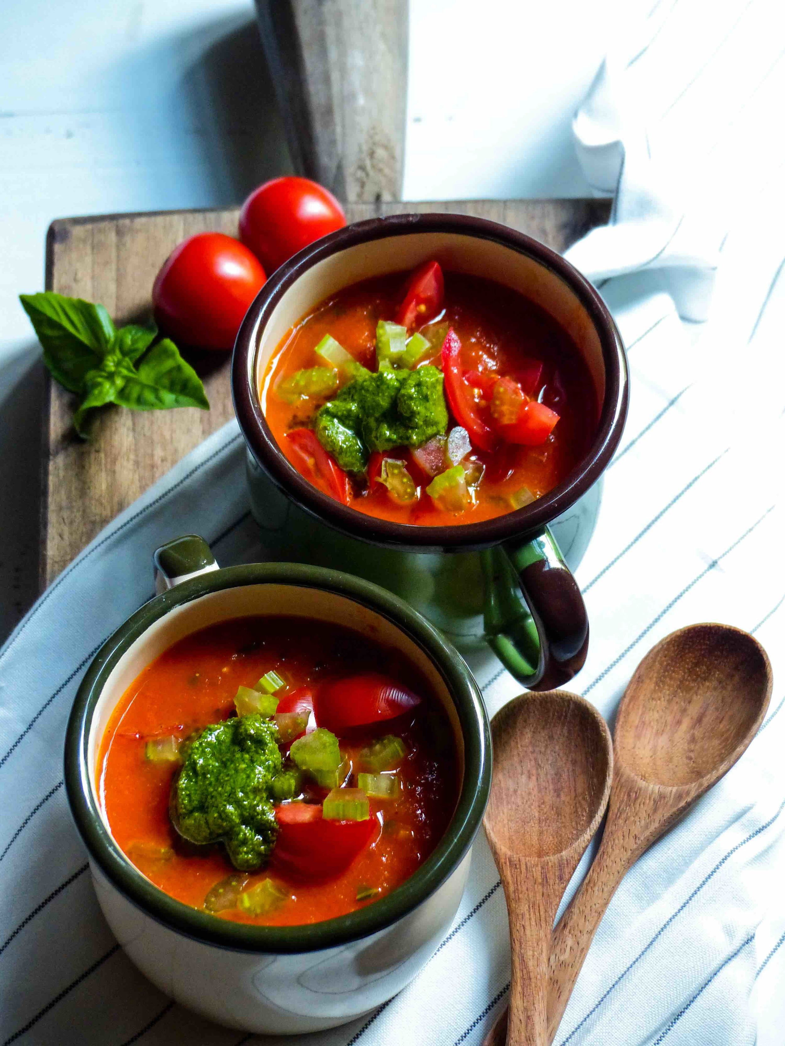 Gazpacho with Ligurian Pesto