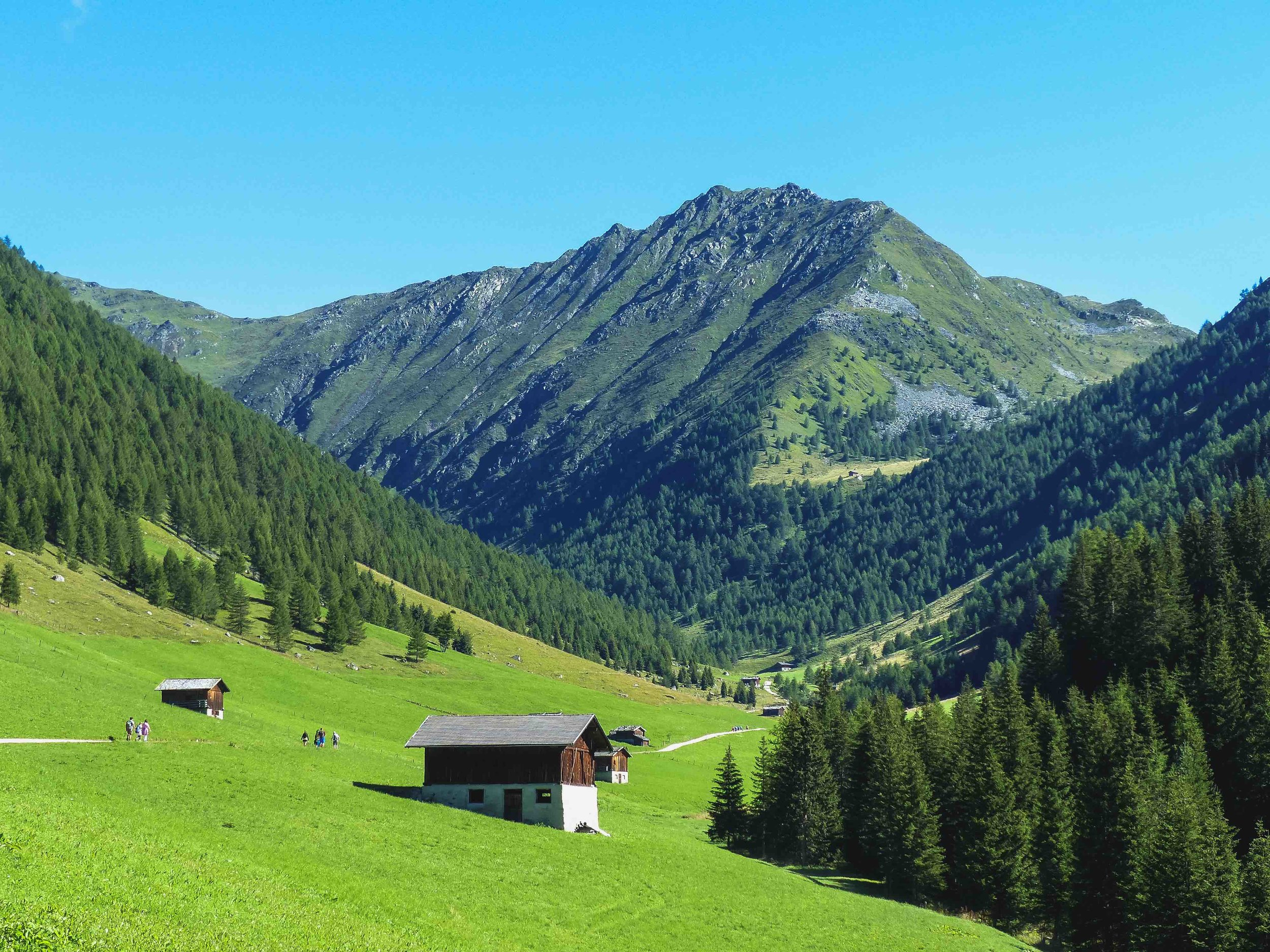 First day: we went on an easier trail leading us from the alpine pastures to the mountain tops