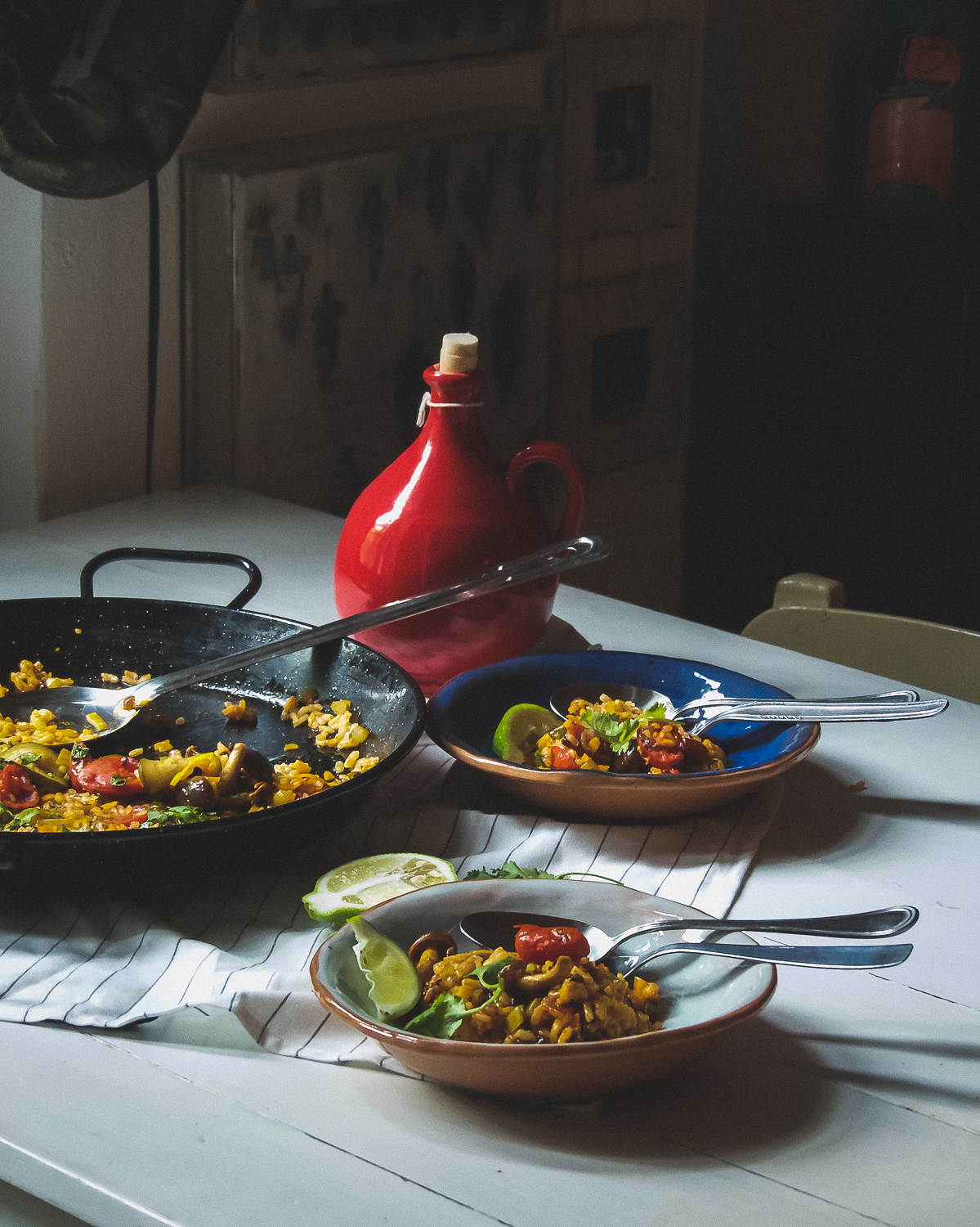 This Korean Paella with a little heat will keep you warm and cosy this fall.