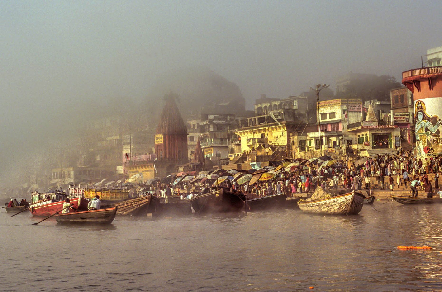 Early morning on the Ganges.