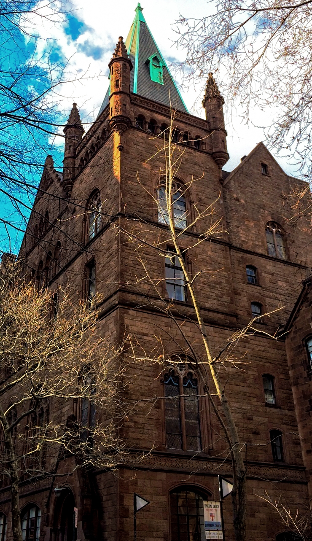 The Abbey Condominium, an icon ofRomanesque Revival architecture.