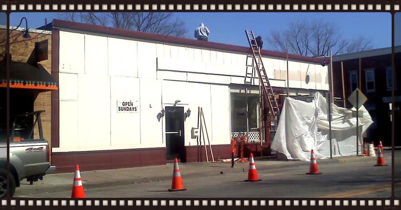 Construction begins...