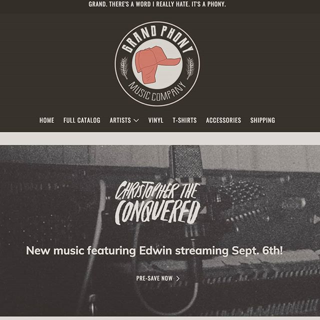 Two new songs coming out on Sept 6th with @ctconquered on @grandphonymusic. I think this counts as our first label release ever. Excited to share these with you all!