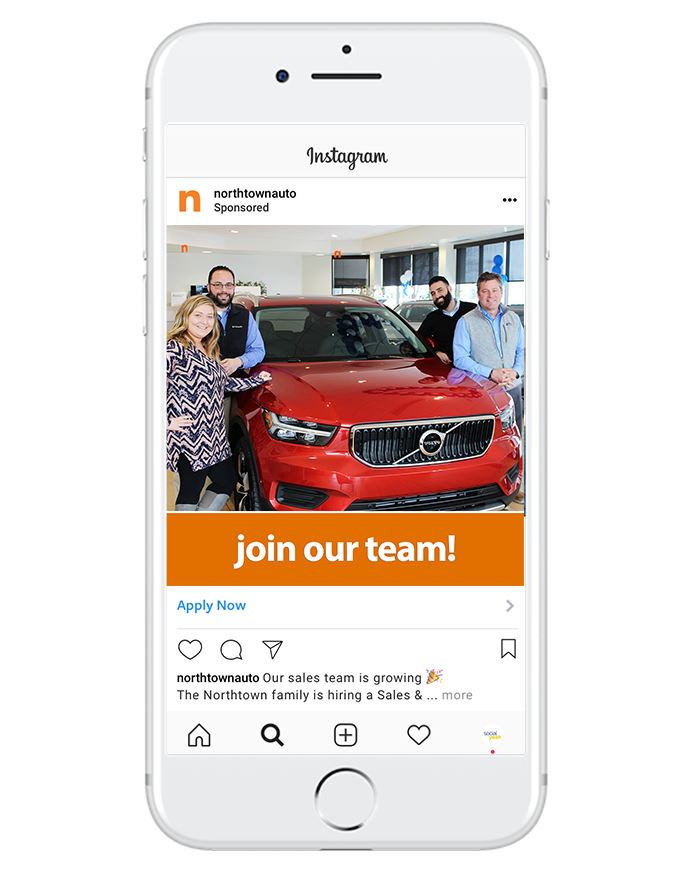 recruitment - Find new candidates who are interested in your line of work! Passive job seekers might not be searching Craigslist or Indeed, but a quick nudge might be all they need to encourage them to apply online.