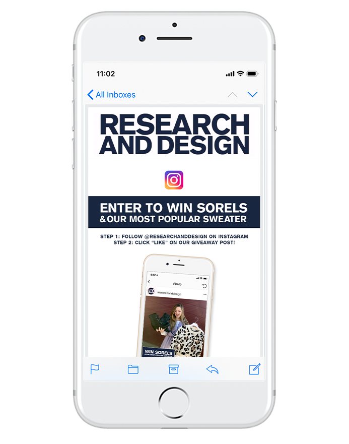 grow your socials - Your email subscribers are already loyal fans, so encouraging them to follow you on social will help boost your overall community.