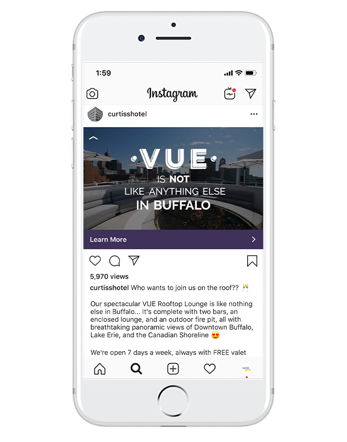 brand awareness - Knowing people quickly scroll Instagram, multiple times a day, it's a great place to reach people who may have never heard of your business. Give them a quick snapshot of who you are and why they should care.