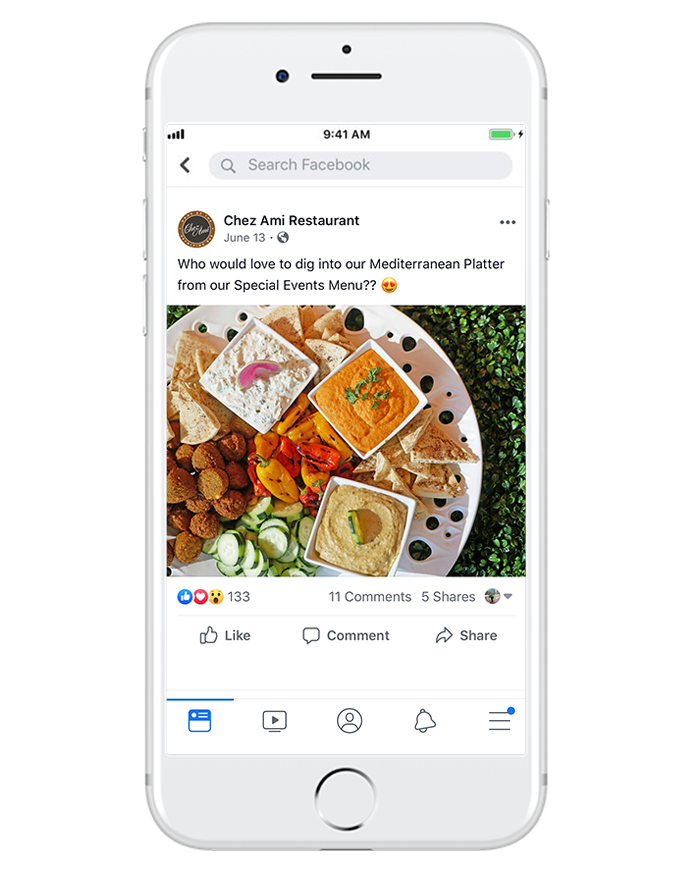 showcase products & services - Engage with unfamiliar audiences and capture their attention by highlighting menu items, featuring photogenic products.