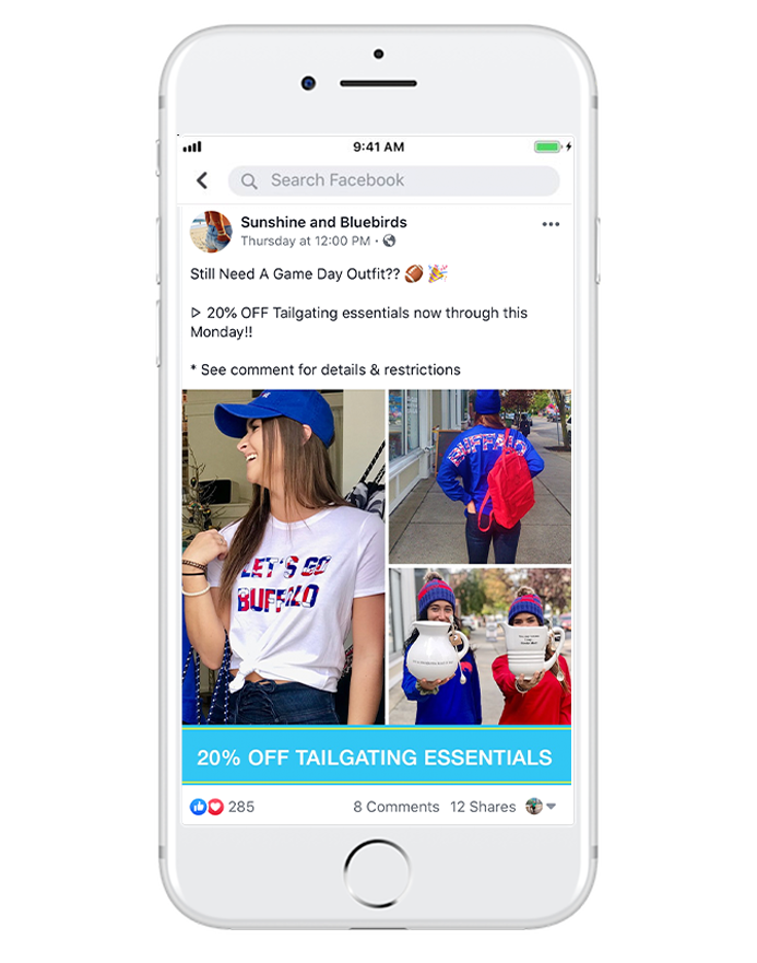 in-store sales & coupons - You don't have to be an online retailer to promote special deals and coupons. Brick-and-mortar stores can take advantage of Facebook's GPS targeting to increase sales