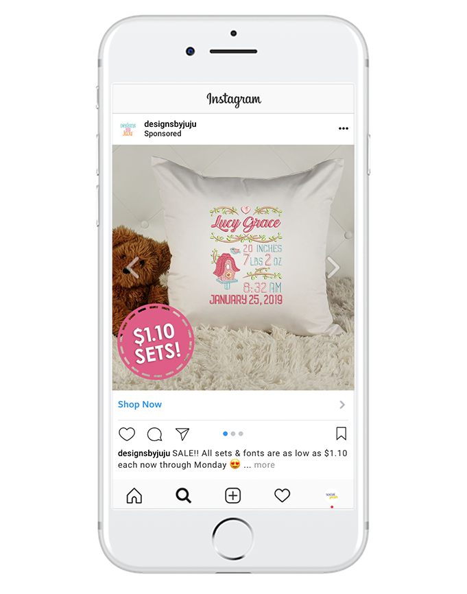 """e-commerce - Don't lose those customers who were just on your website or browsing your social media posts. """"Shop Now"""" link posts can highlight products, promote sales, and increase sales!"""