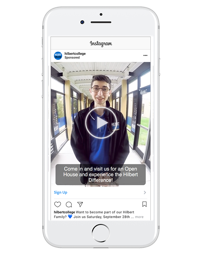 promote events - While Instagram doesn't have an RSVP feature like Facebook, you can still introduce your event to specific audiences and take them to an outside landing page to sign up.