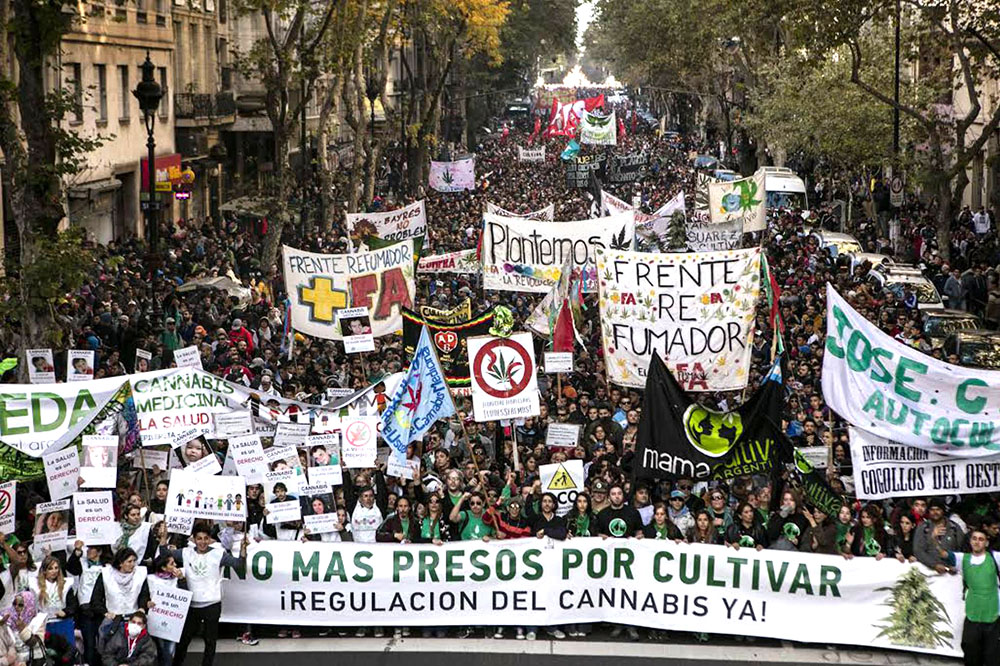 Manifestación en mayo de 2016 en Argentina, foto de Ricardo Ceppi.