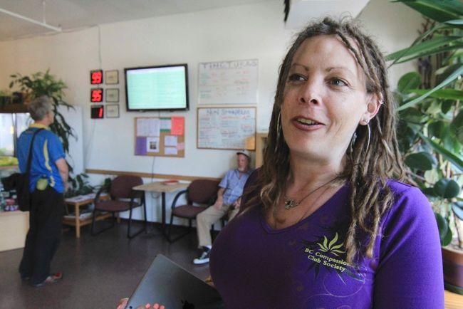 Jamie Shaw, portavoz de la BC Compassion Club Society y presidenta de la Asociación Canadiense de Dispensarios Médicos de Cannabis.